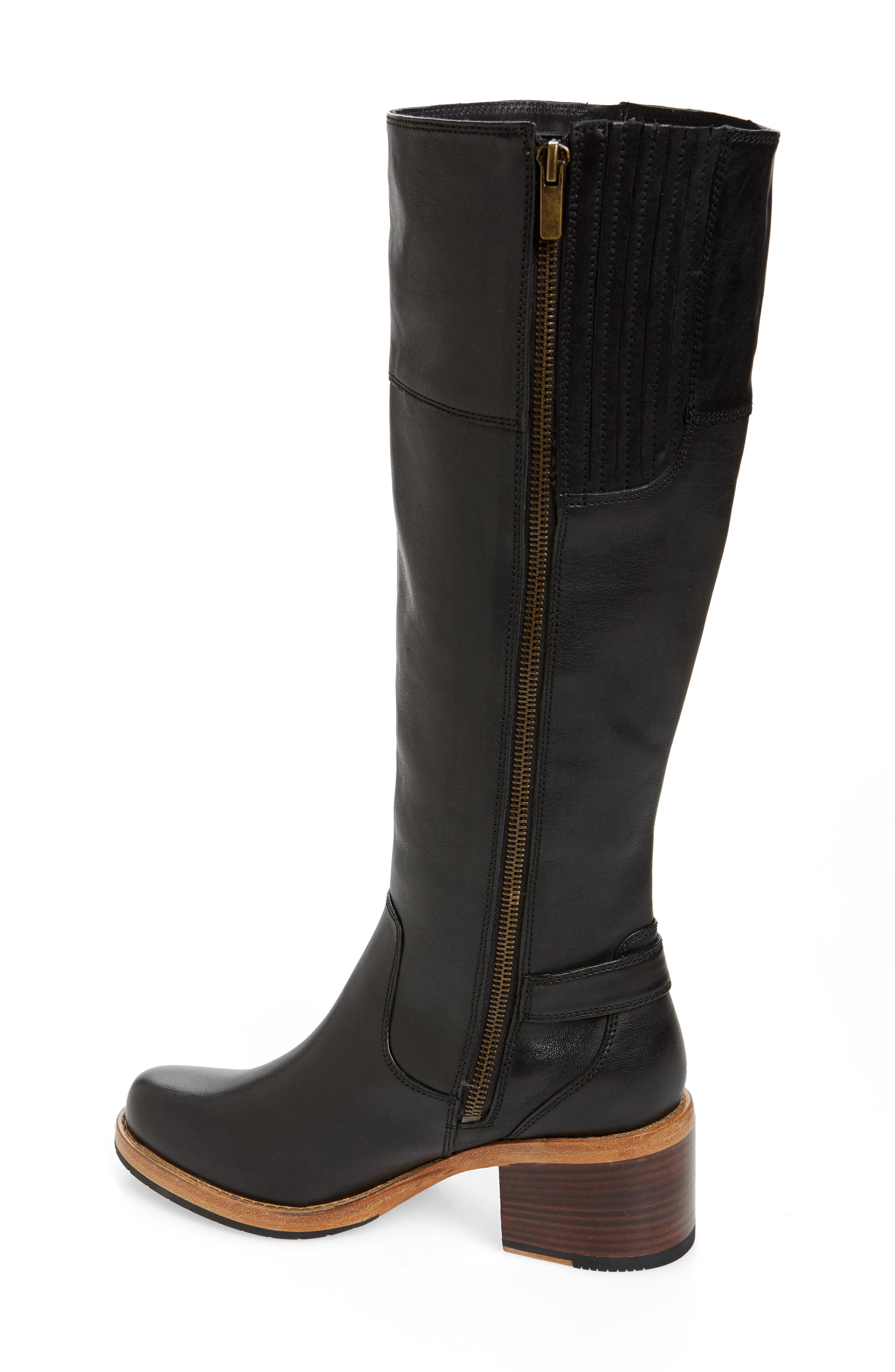 CLARKS<SUP>®</SUP>, Clarkdale Sona Boot, Alternate thumbnail 2, color, BLACK LEATHER
