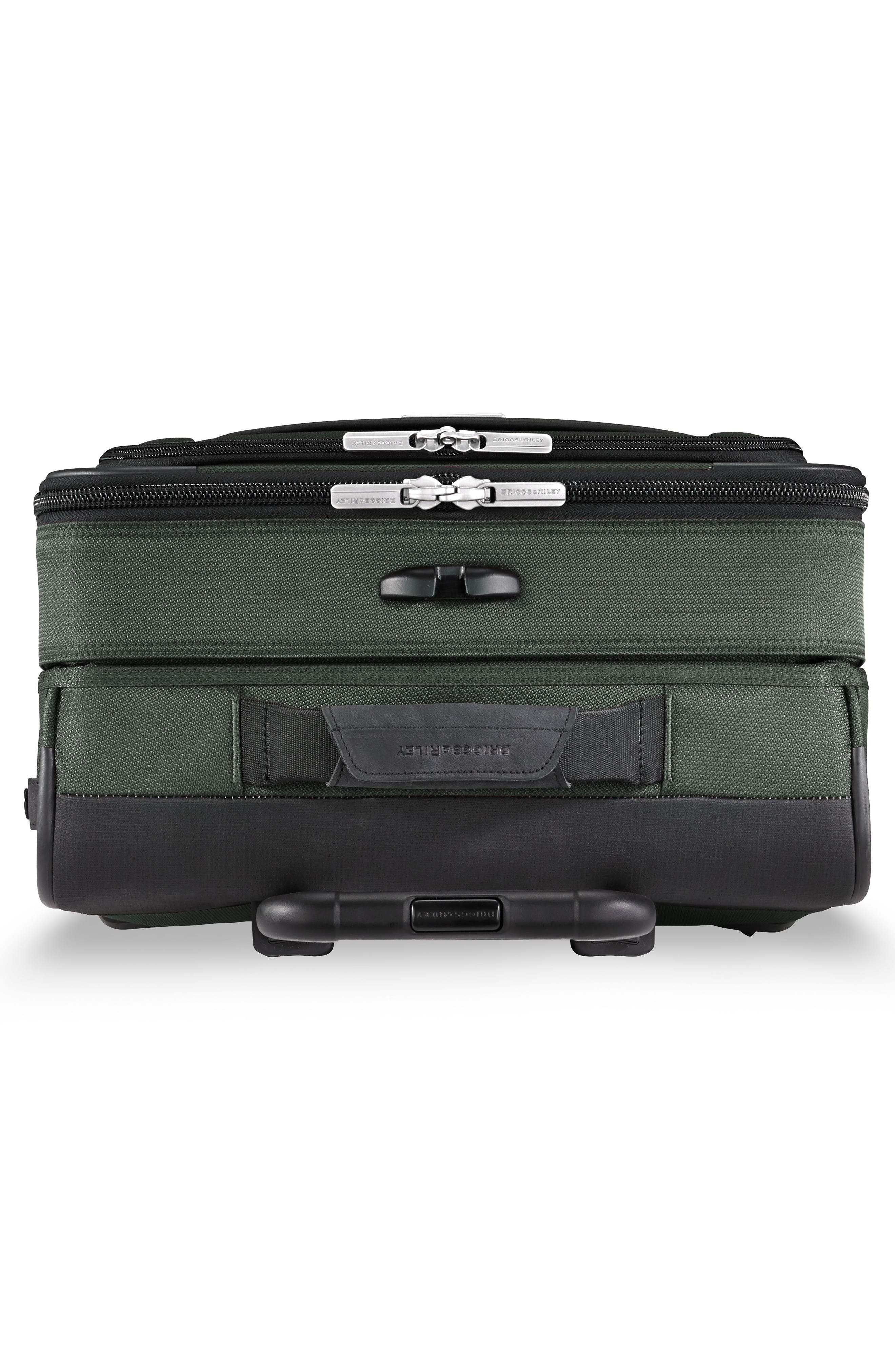 BRIGGS & RILEY, Transcend VX Wide Expandable 21-Inch Spinner Suitcase, Alternate thumbnail 5, color, RAINFOREST GREEN