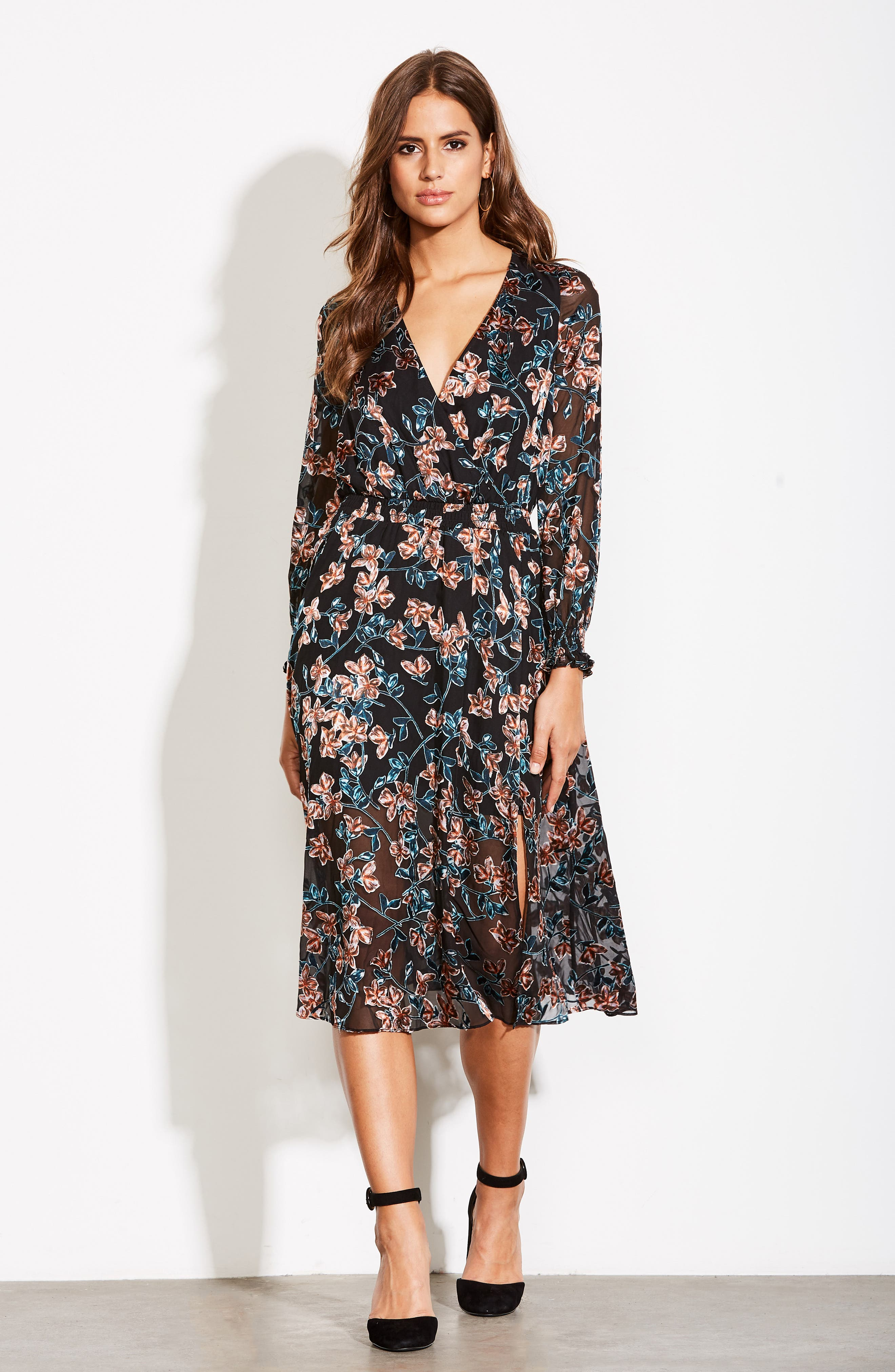 ALI & JAY, Treat Me Like a Lady Floral Dress, Alternate thumbnail 8, color, 001