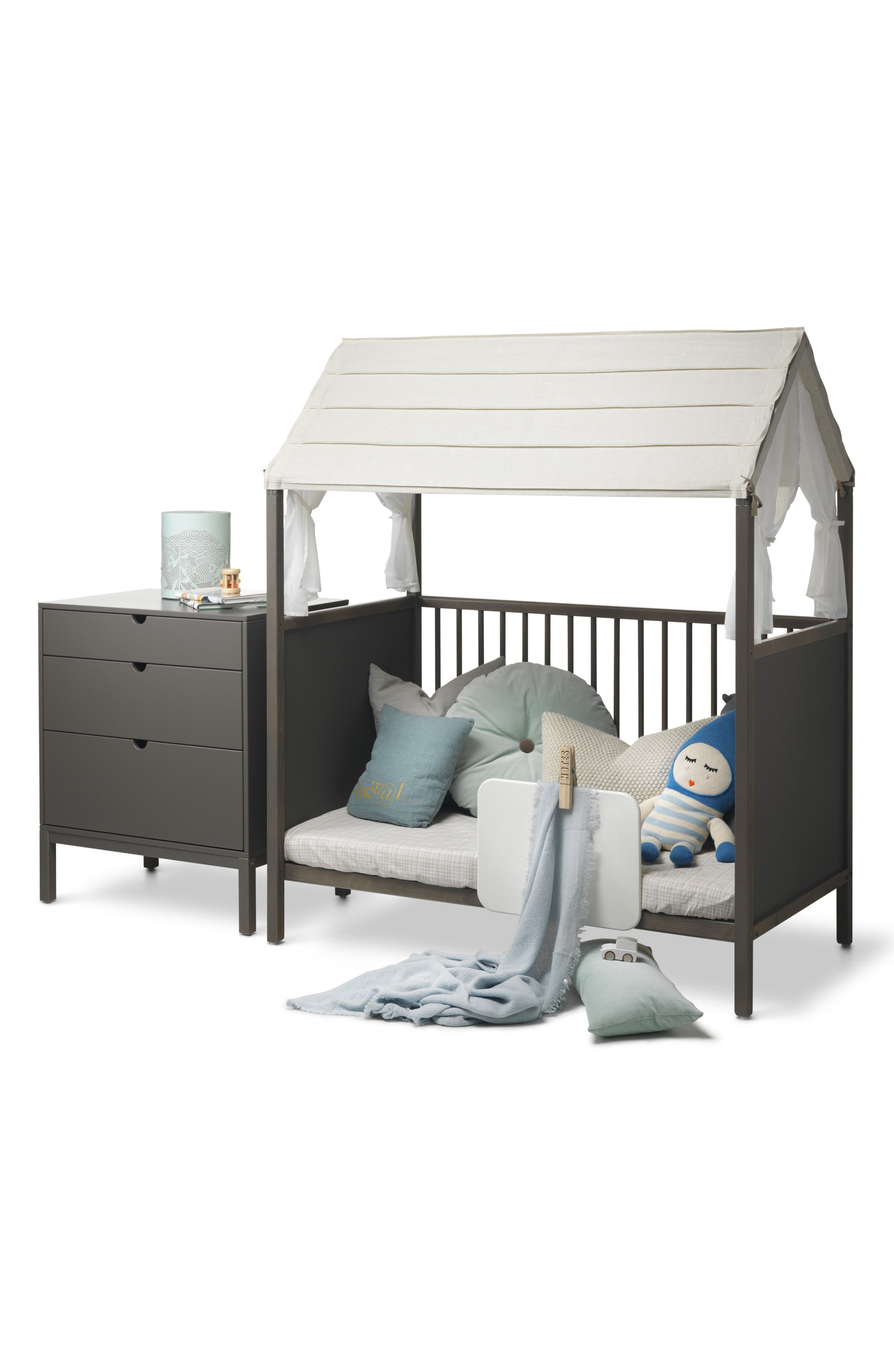 STOKKE, 'Home<sup>™</sup>' Bed, Alternate thumbnail 8, color, HAZY GREY