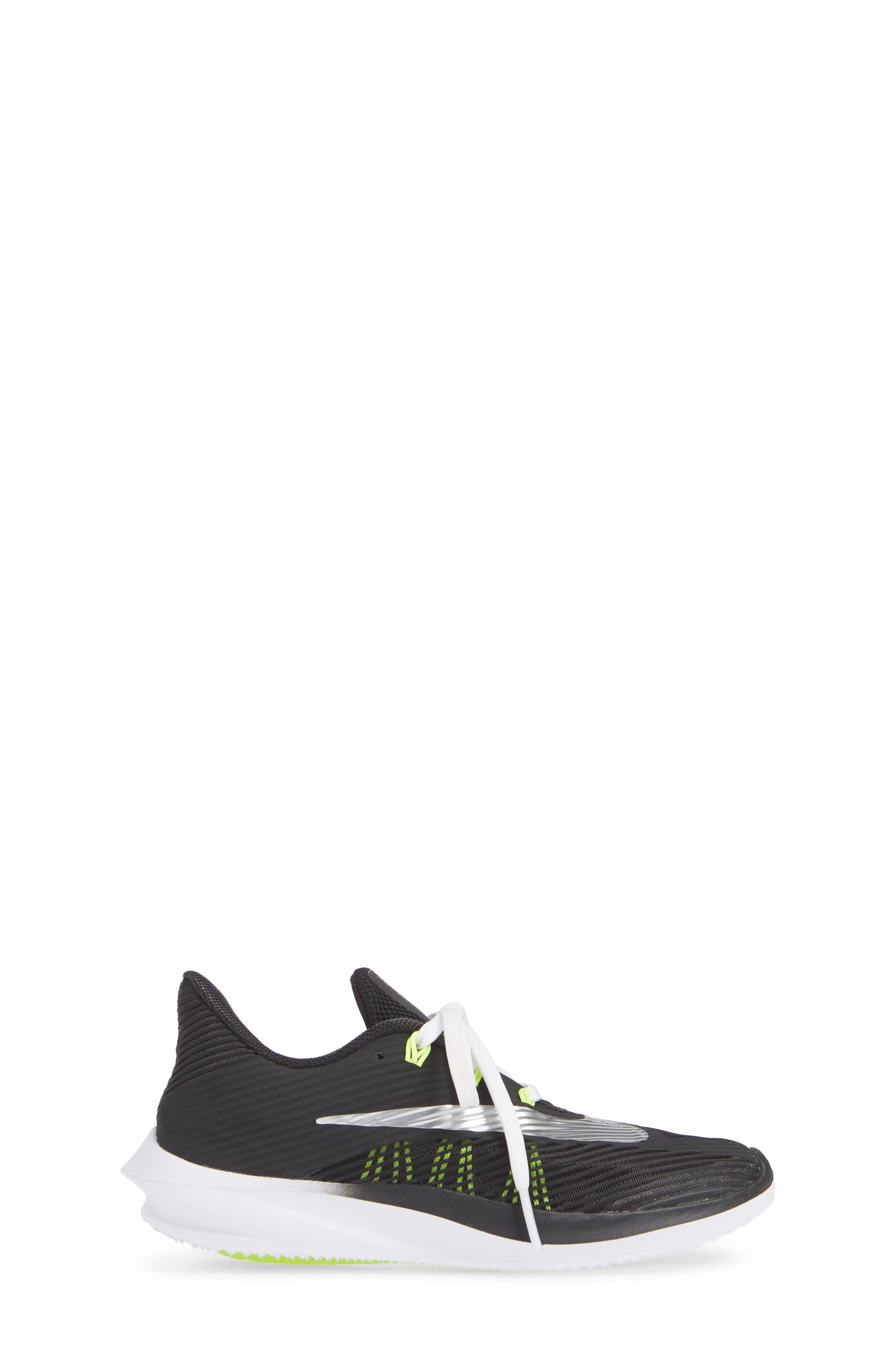 NIKE, Future Speed Running Shoe, Alternate thumbnail 3, color, BLACK/ CHROME-WHITE-VOLT