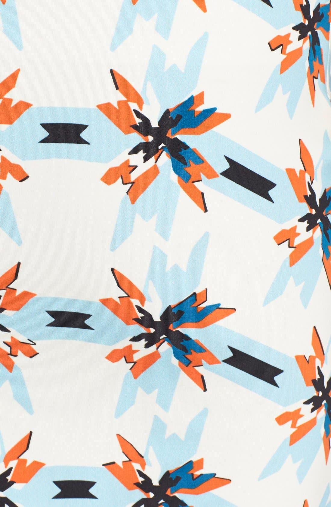 TANYA TAYLOR, 'Bundy' Print Pencil Skirt, Alternate thumbnail 2, color, 400