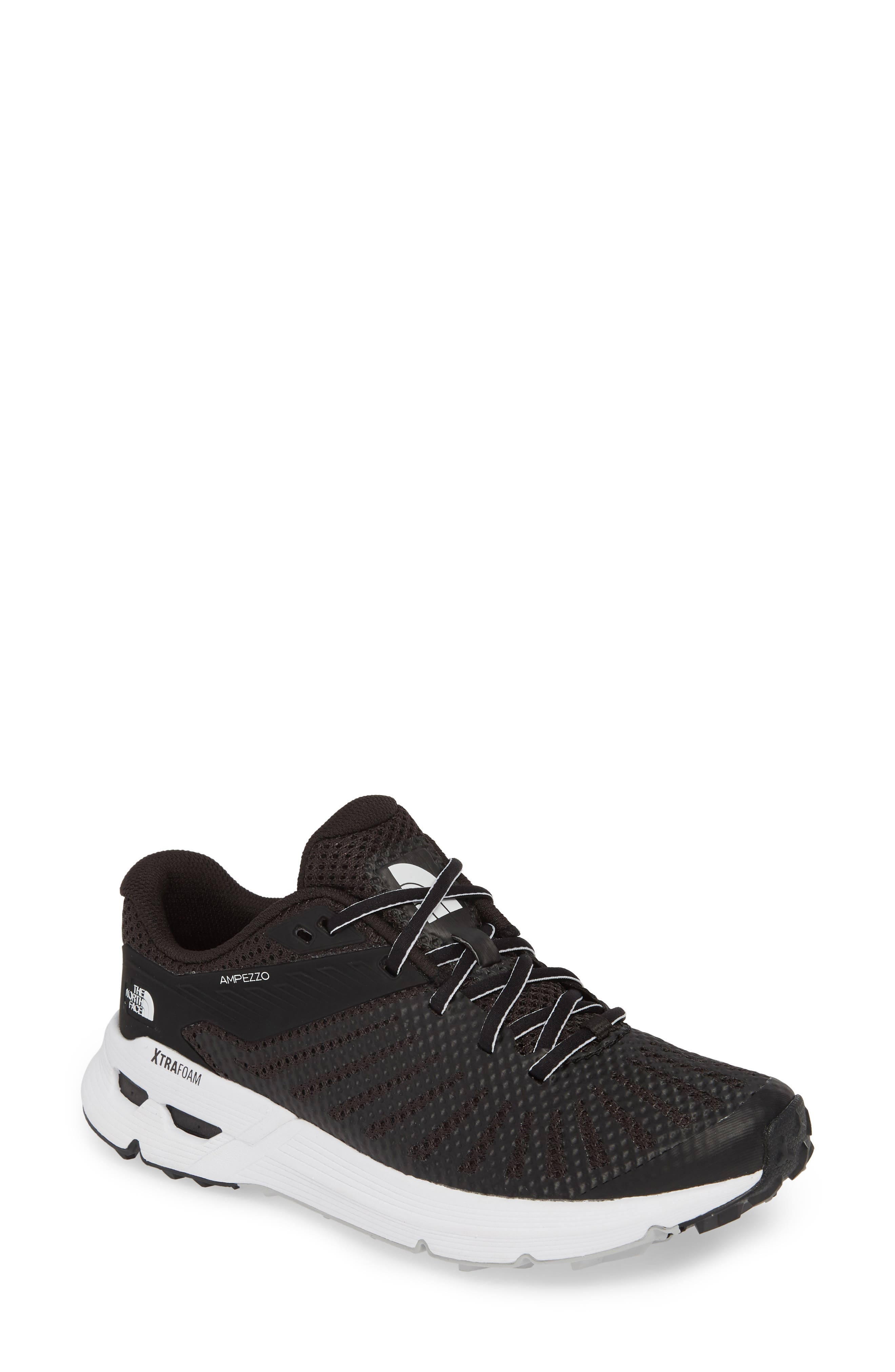 THE NORTH FACE, Ampezzo Running Shoe, Main thumbnail 1, color, BLACK/ WHITE