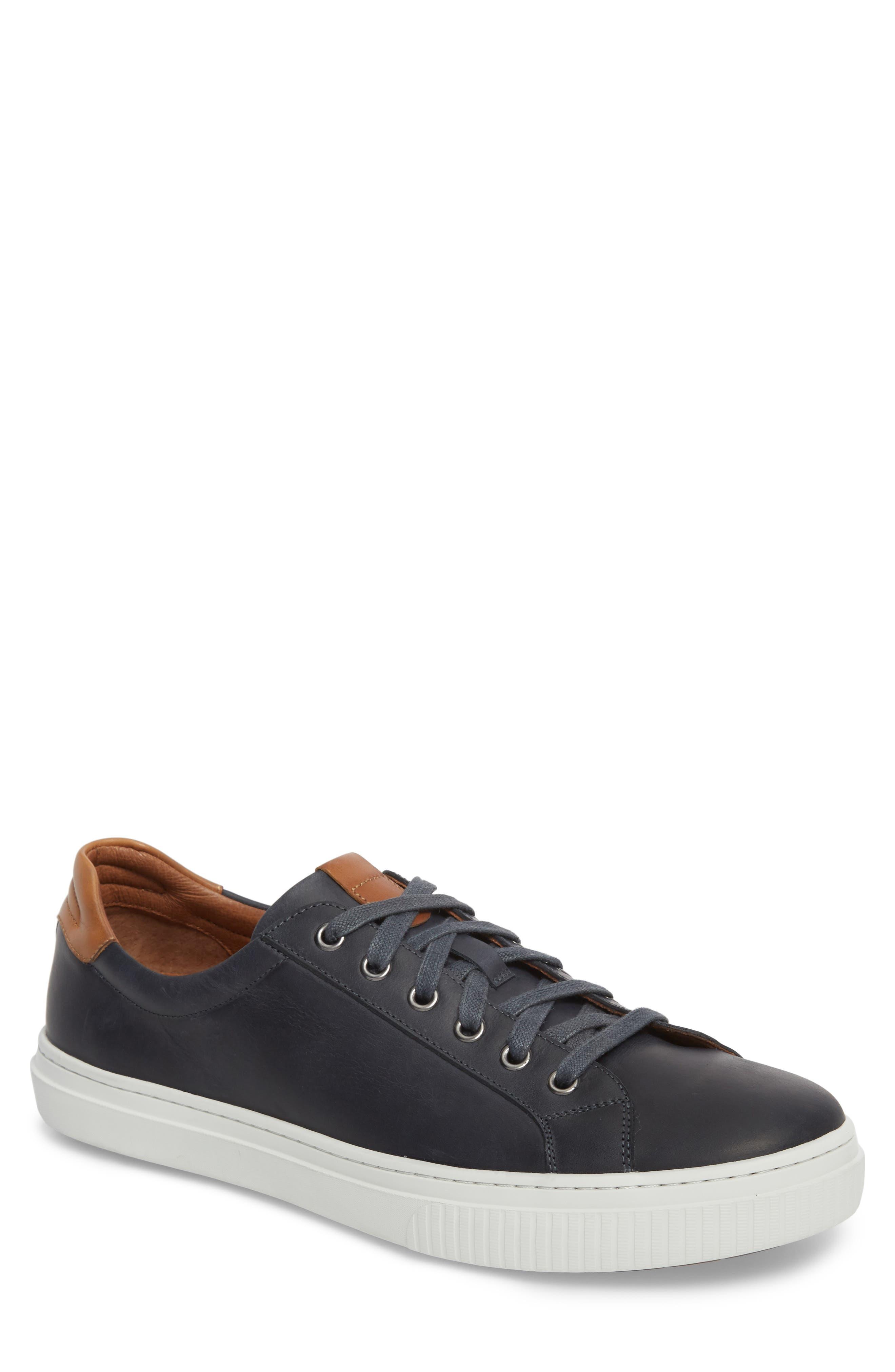 J & m 1850 Toliver Low Top Sneaker- Blue