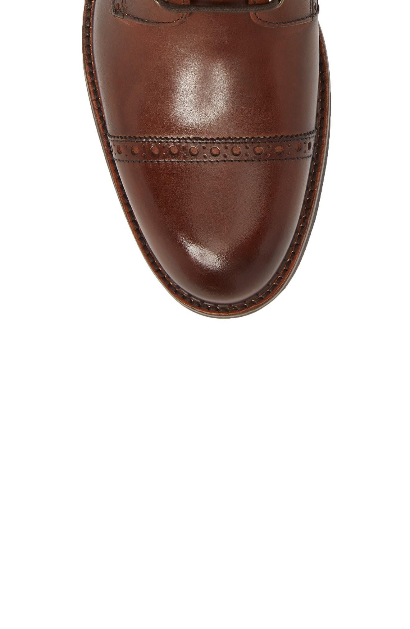 J&M 1850, Fullerton Zip Boot, Alternate thumbnail 5, color, MAHOGANY