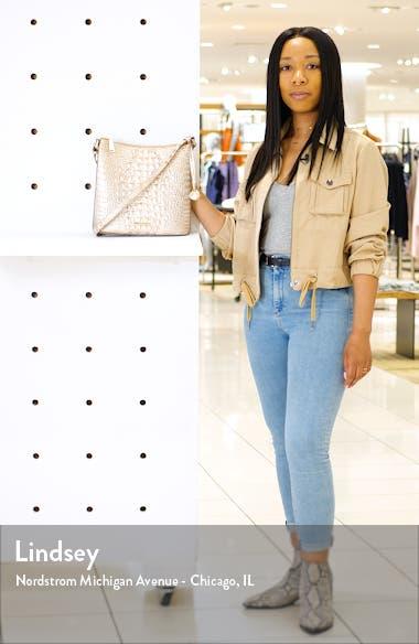 Katie Croc Embossed Leather Crossbody Bag, sales video thumbnail