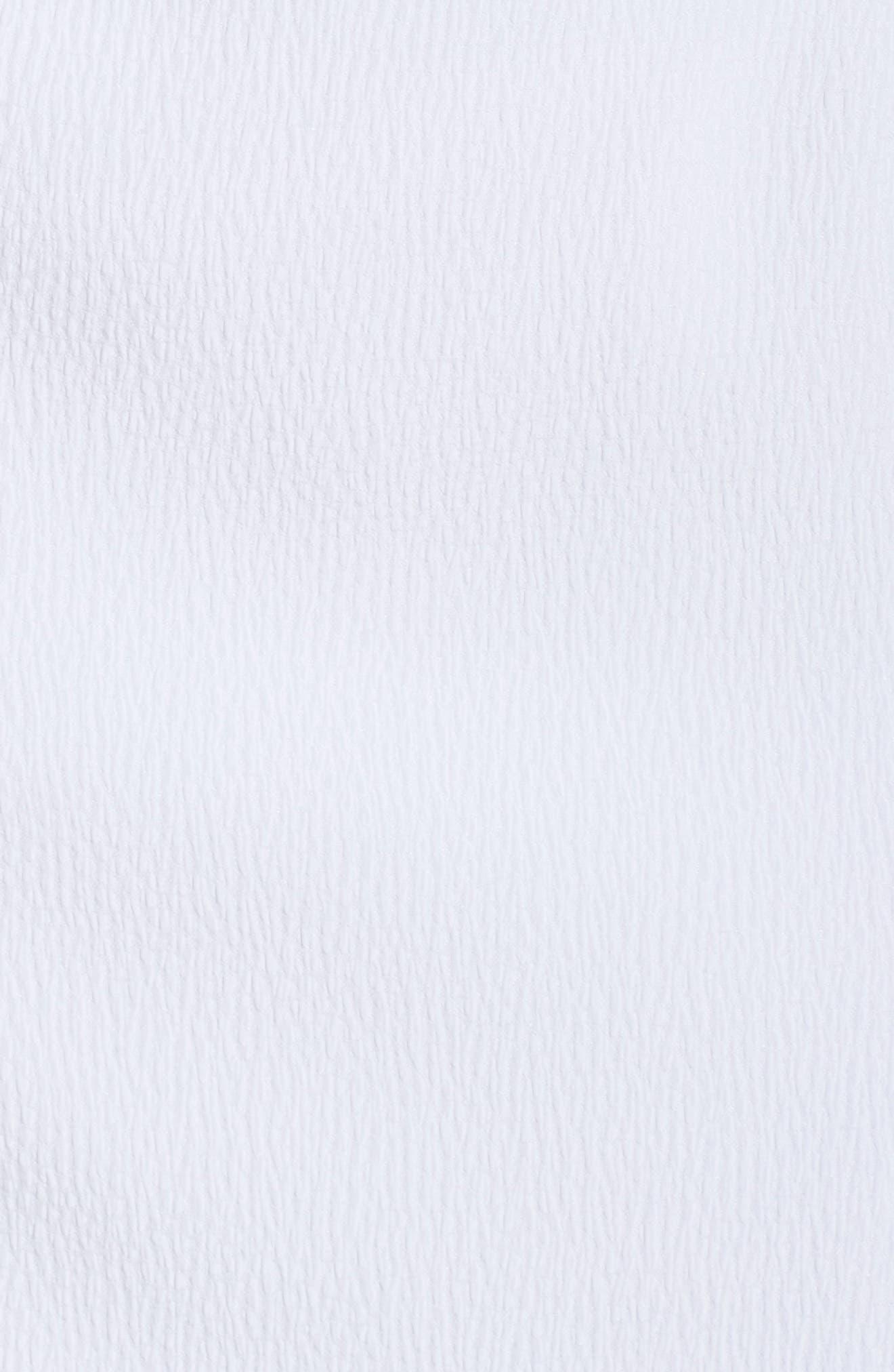 CHELSEA28, Popover Crop Sheath Dress, Alternate thumbnail 6, color, WHITE SNOW