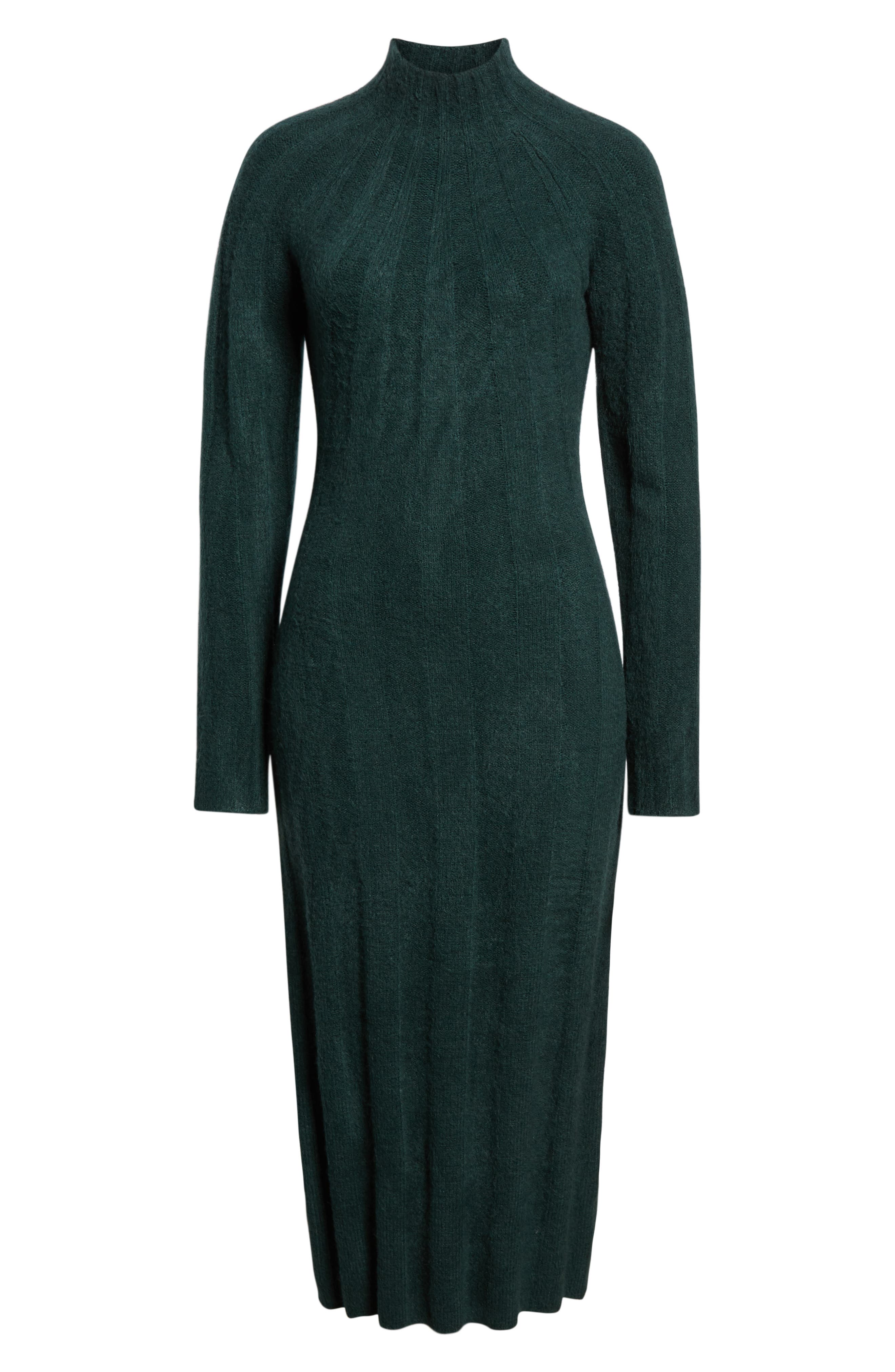 4SI3NNA, Wide Rib Sweater Dress, Alternate thumbnail 7, color, 300