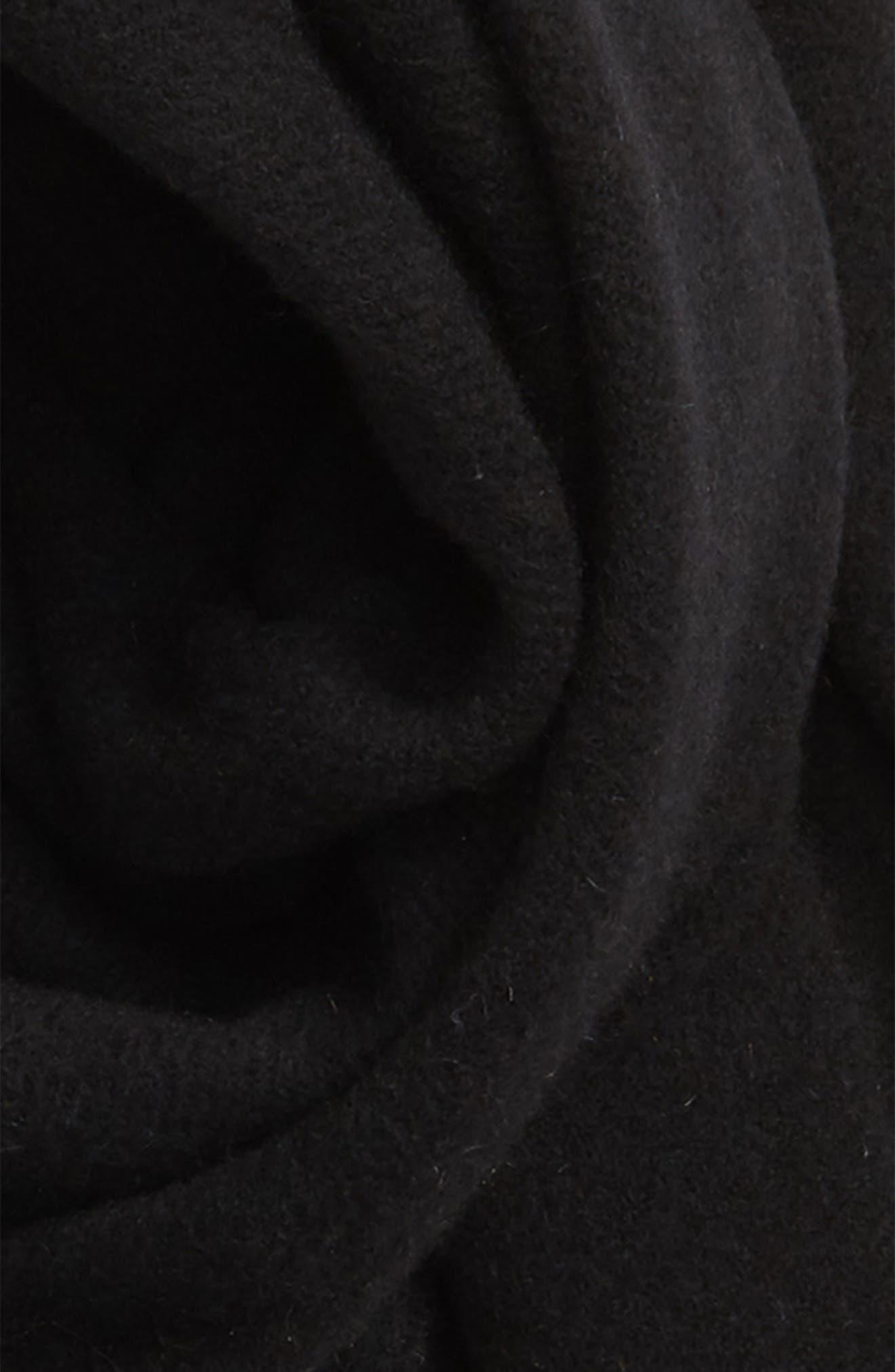 RAG & BONE, Classic Wool Scarf, Alternate thumbnail 4, color, BLACK