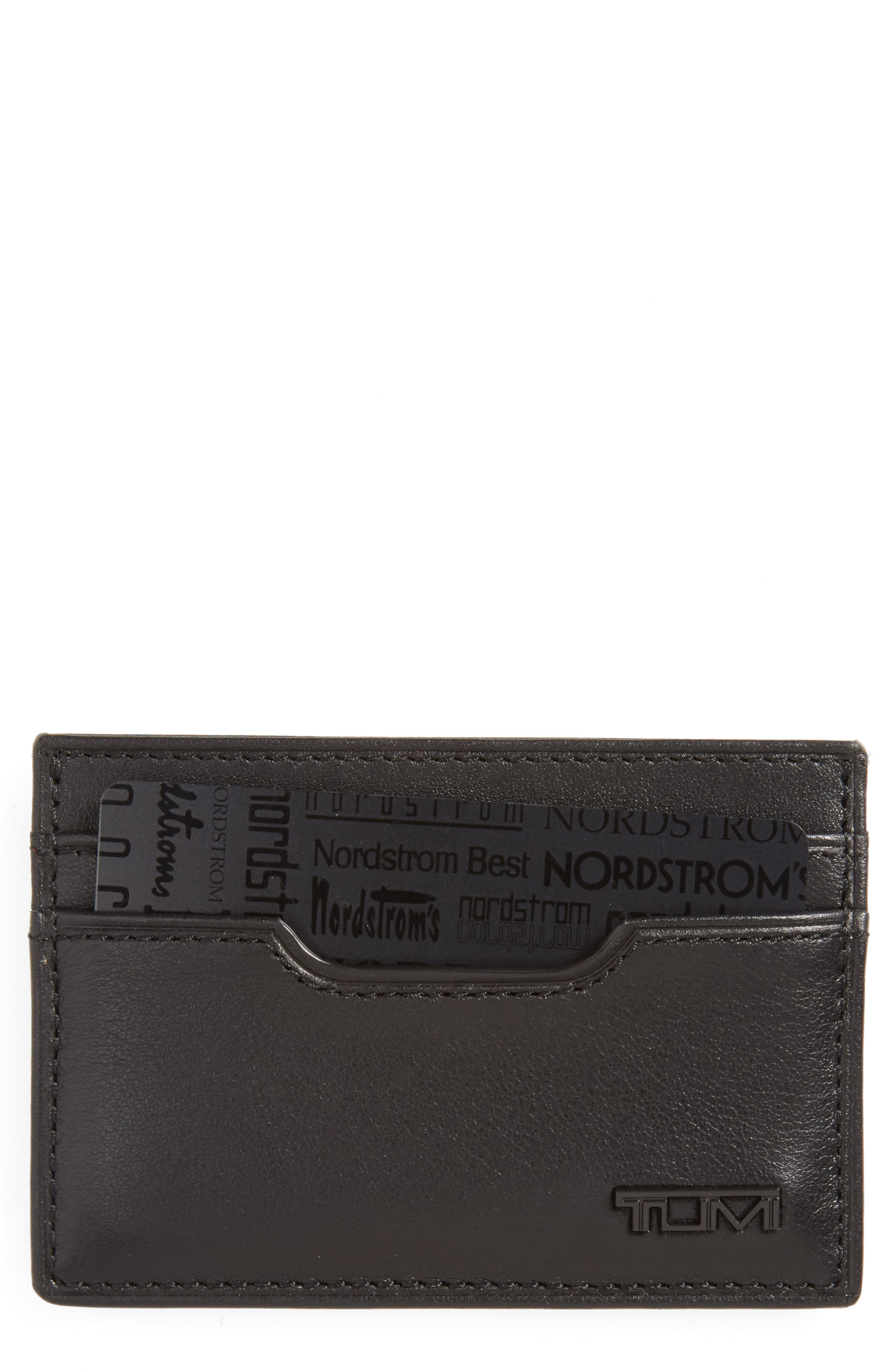 TUMI Delta - ID Lock<sup>™</sup> Shielded Slim Card Case & ID Wallet, Main, color, BLACK