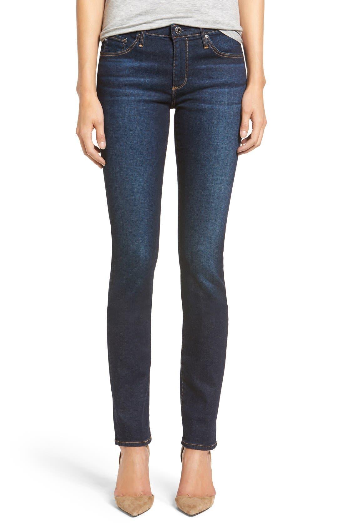 AG, Harper Slim Straight Leg Jeans, Main thumbnail 1, color, SMITTEN