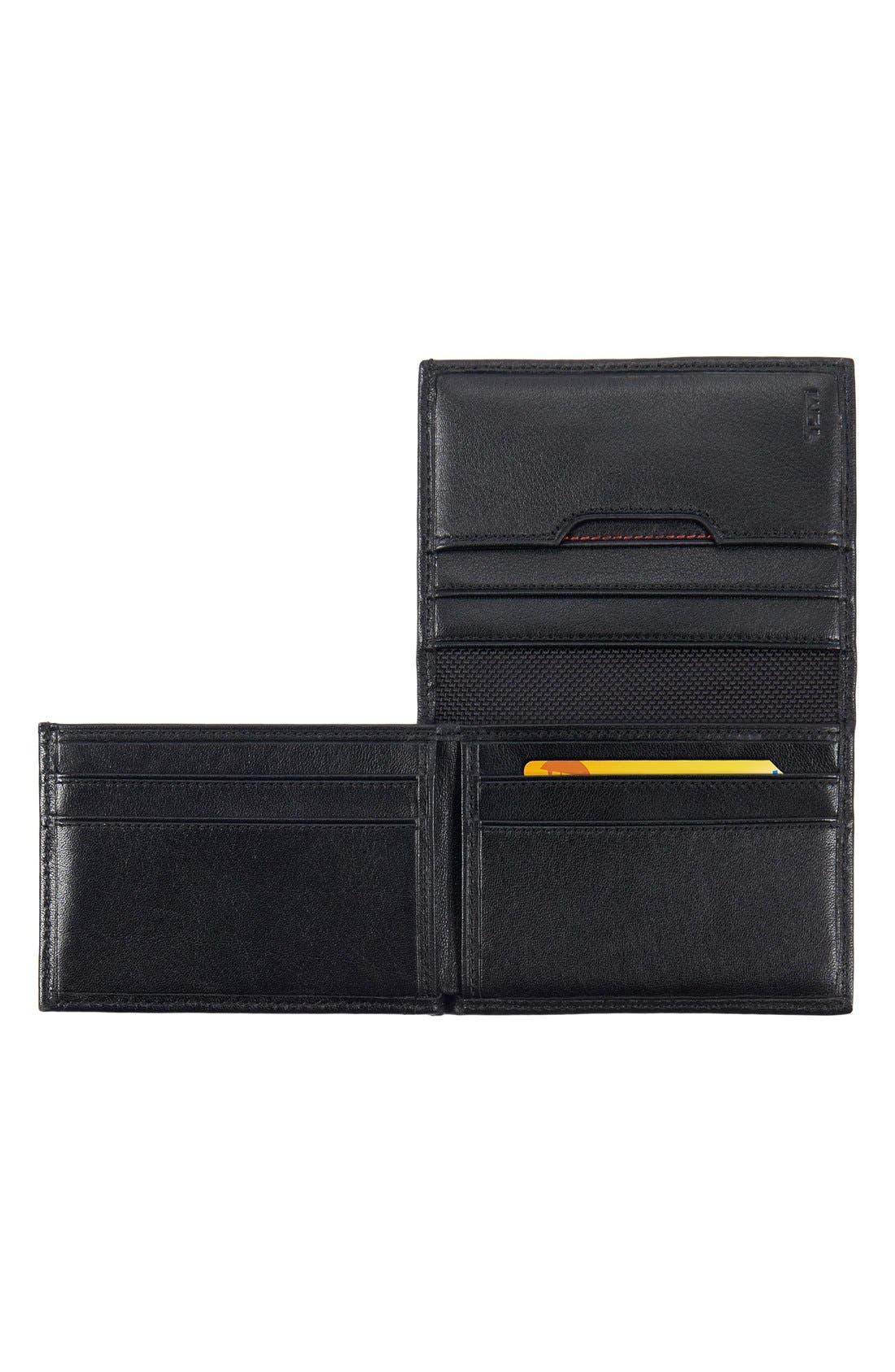 TUMI, Delta - ID Lock Shielded L-Fold ID Wallet, Alternate thumbnail 2, color, BLACK