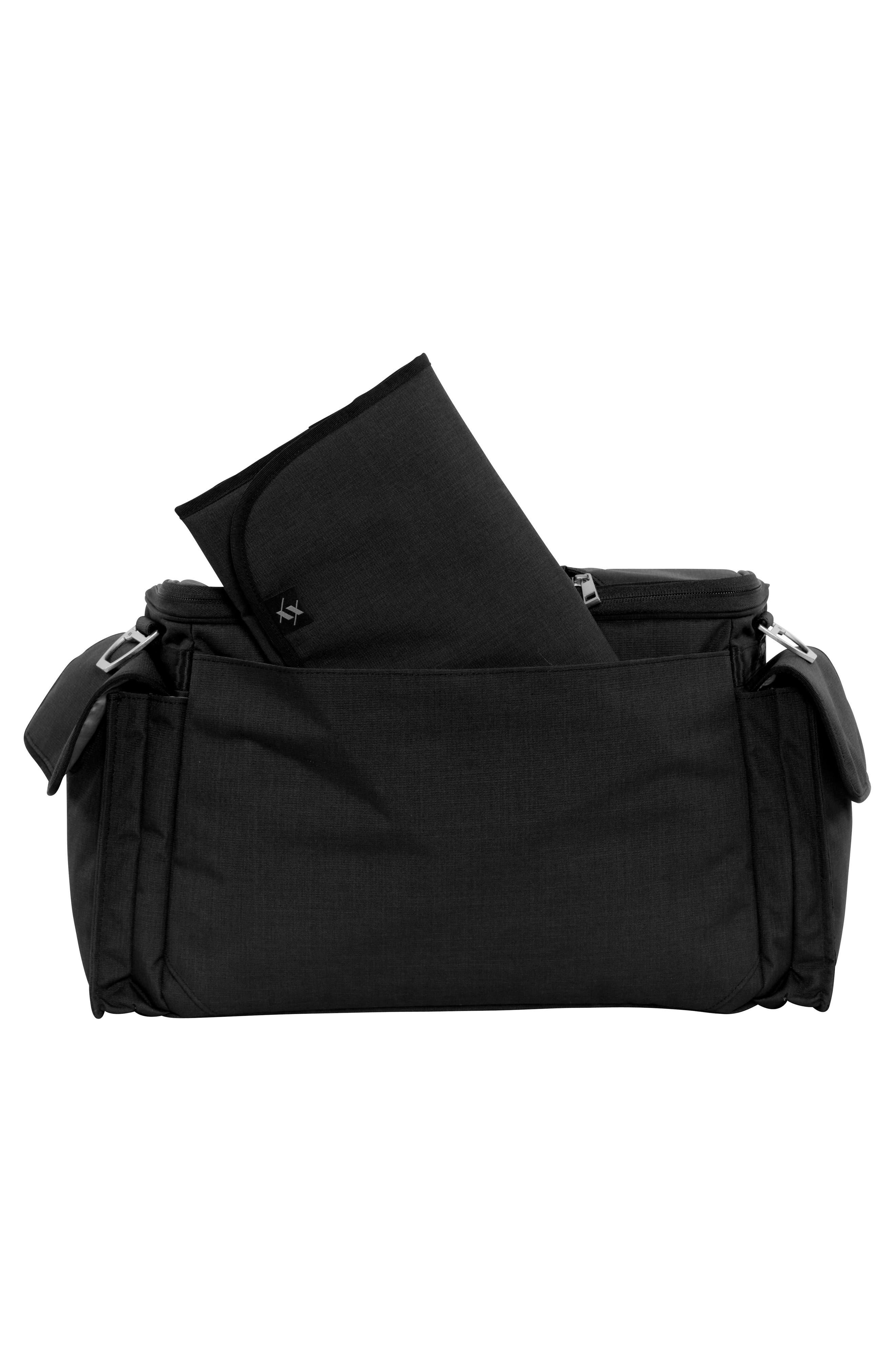 JU-JU-BE, XY Clone Diaper Bag, Alternate thumbnail 4, color, CARBON