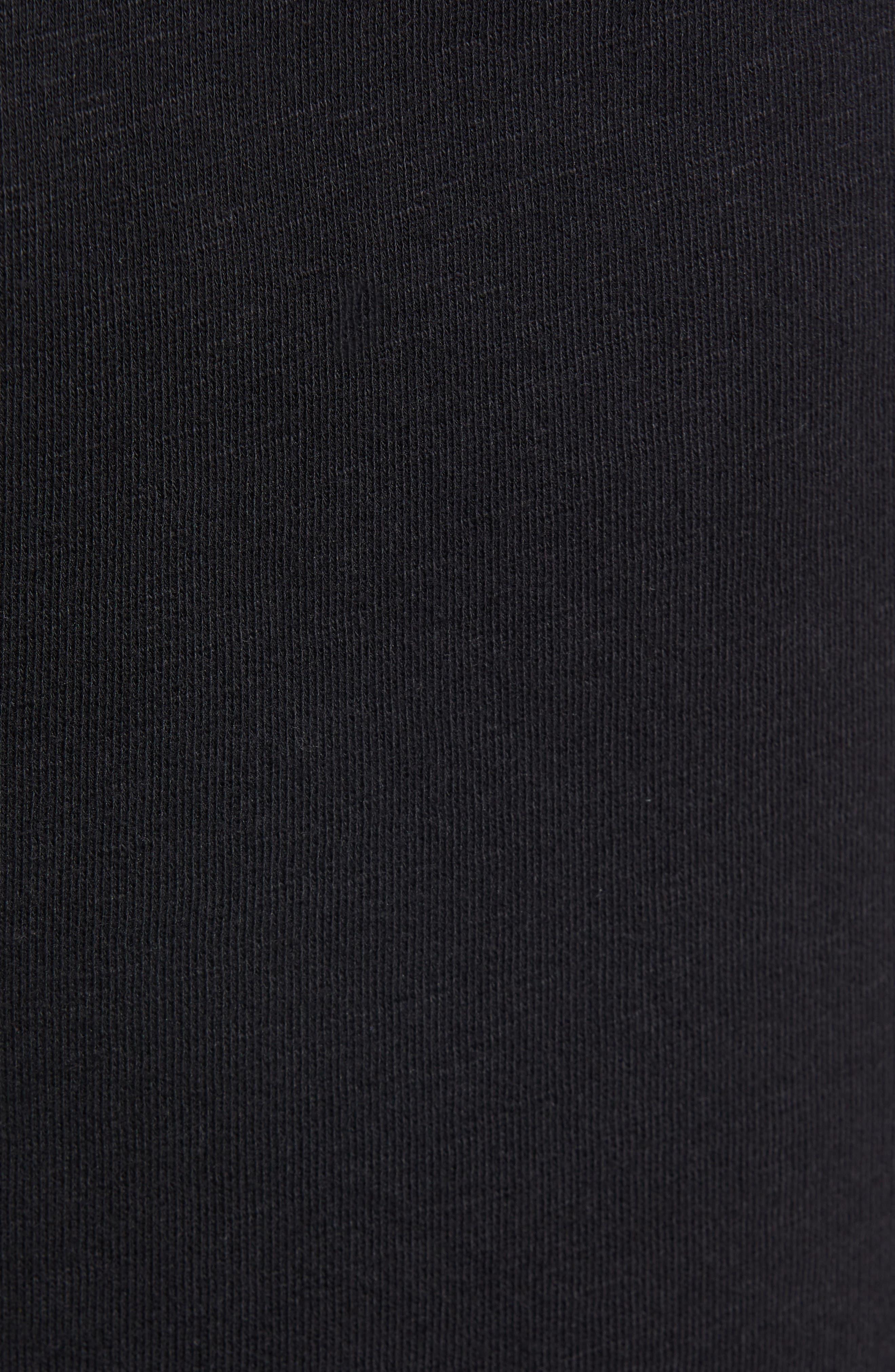 THE RAIL, Terry Athletic Shorts, Alternate thumbnail 5, color, BLACK ROCK