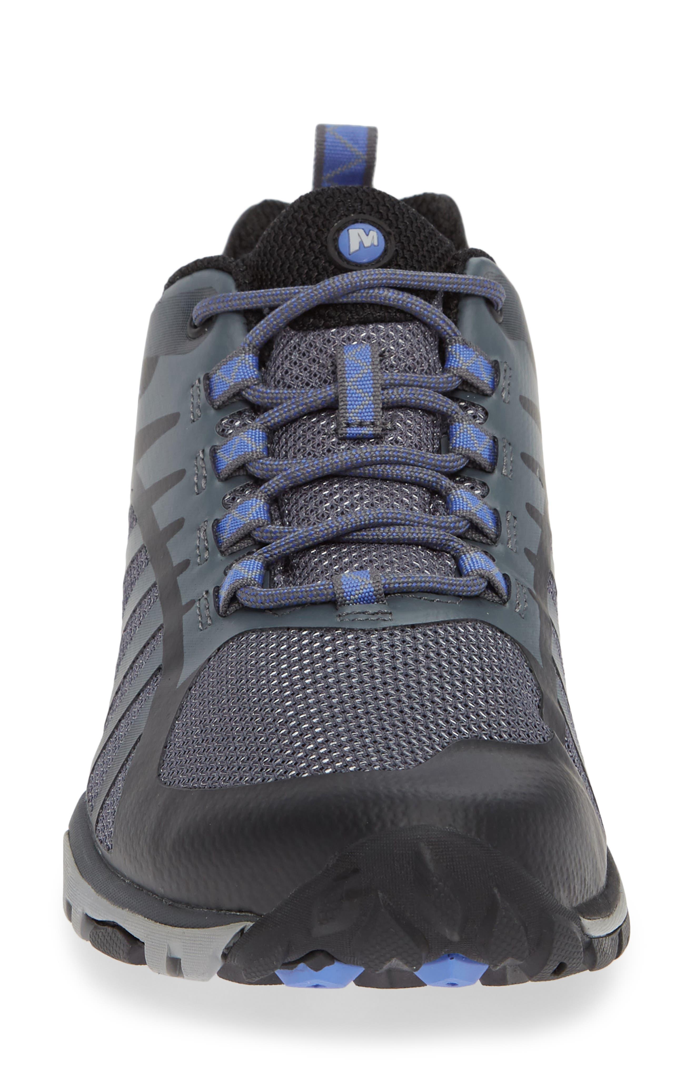MERRELL, Siren Edge Q2 Hiking Shoe, Alternate thumbnail 4, color, BLACK FABRIC