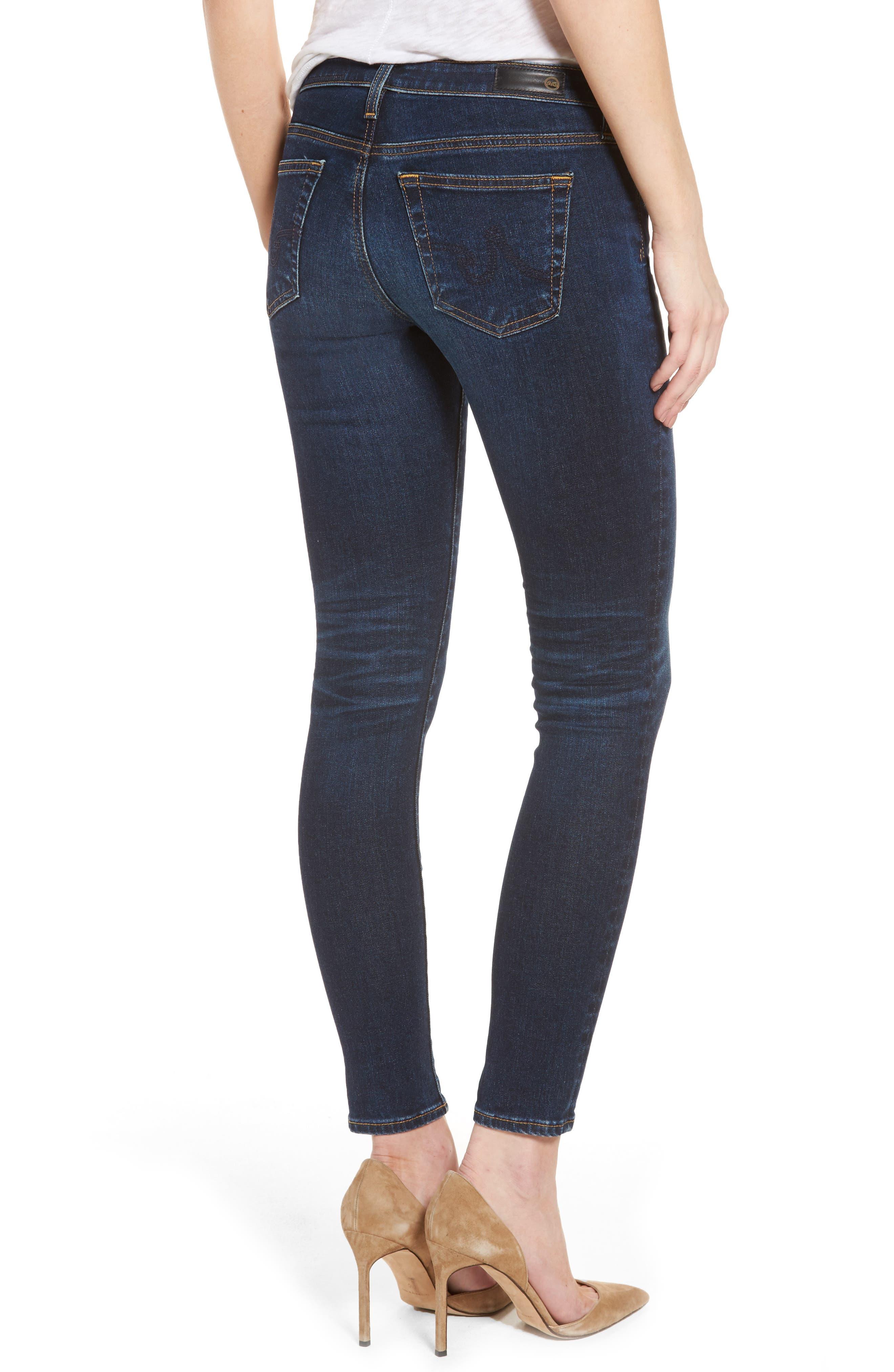 AG, The Legging Ankle Super Skinny Jeans, Alternate thumbnail 2, color, 04 YEARS RAPID
