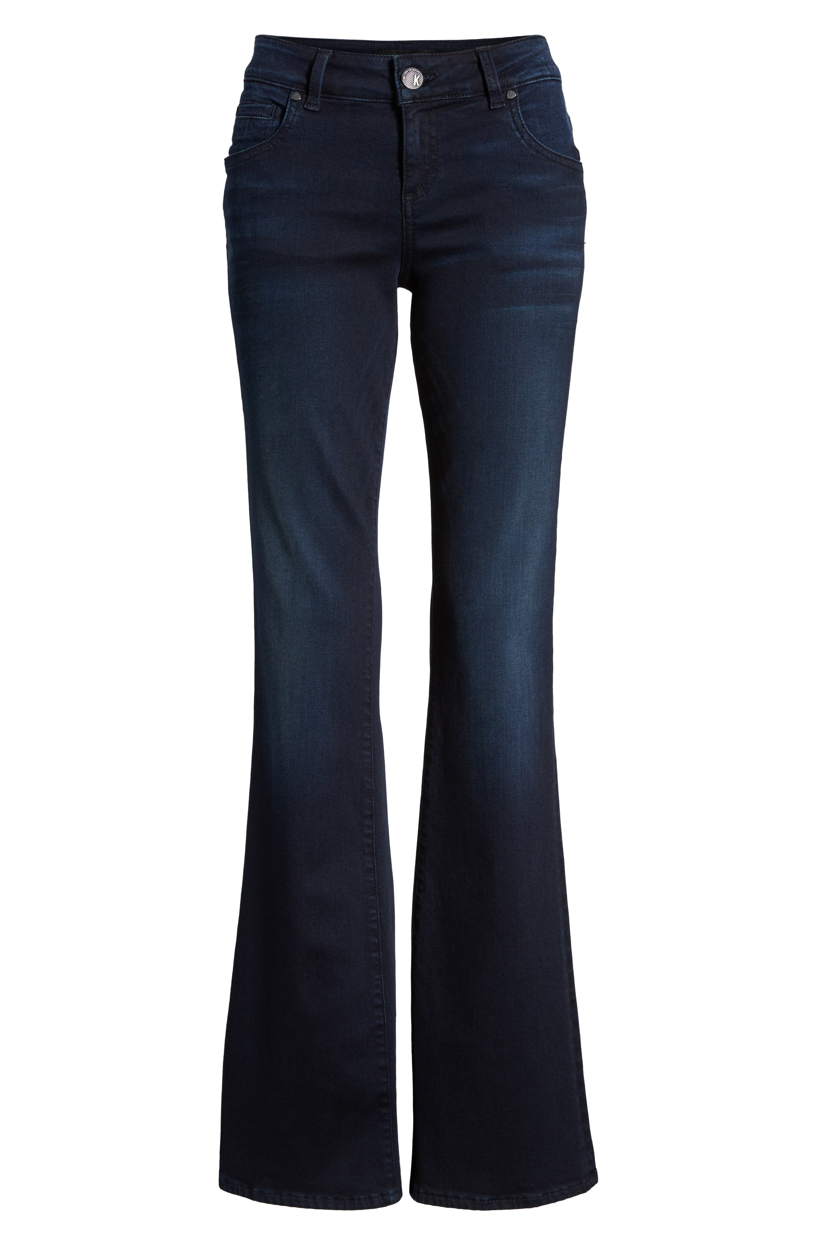 KUT FROM THE KLOTH, Natalie Stretch Bootleg Jeans, Alternate thumbnail 6, color, LIBERATING