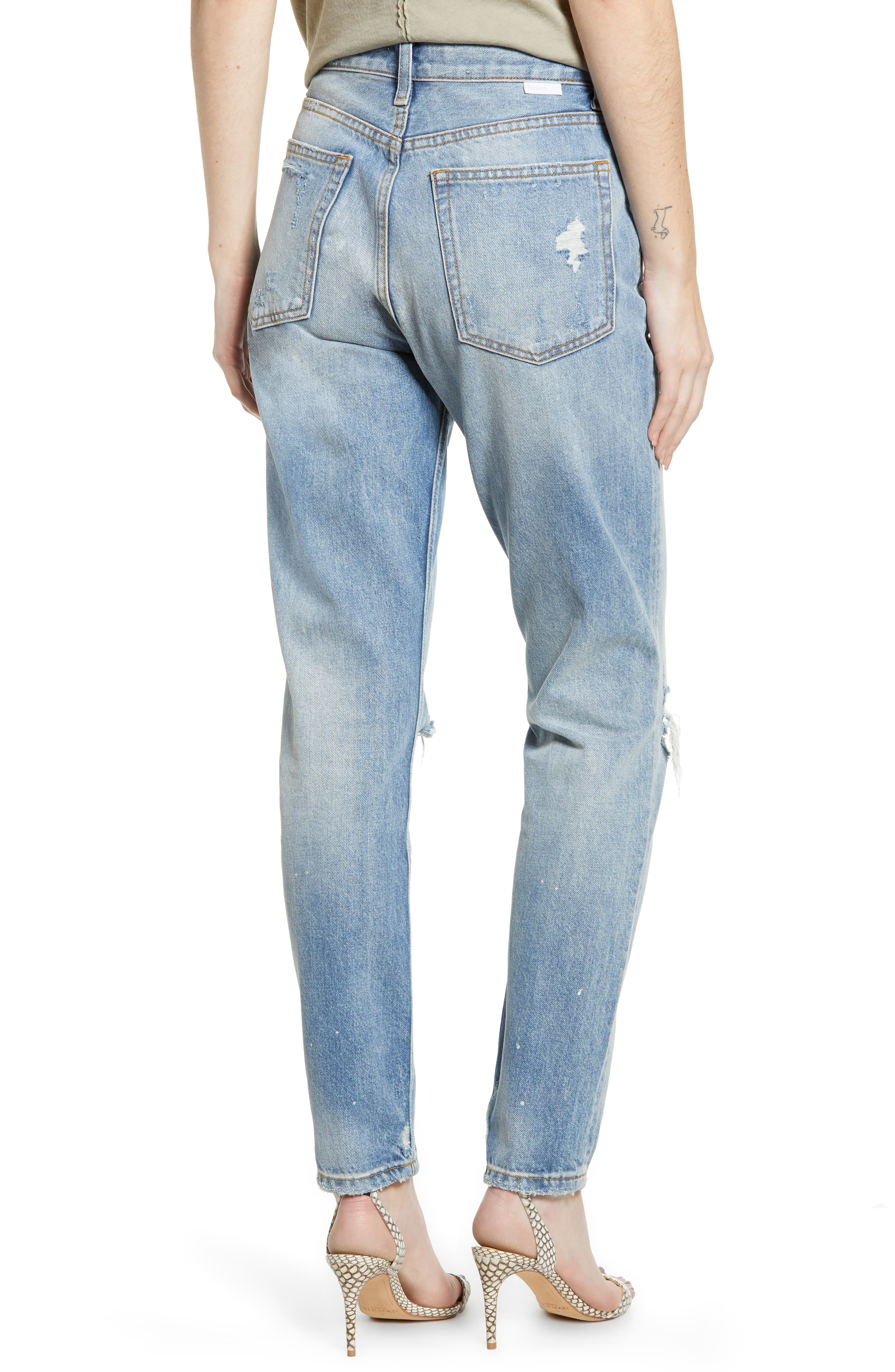 BOYISH JEANS, The Billy Ripped High Waist Ankle Skinny Jeans, Alternate thumbnail 2, color, EASY RIDER