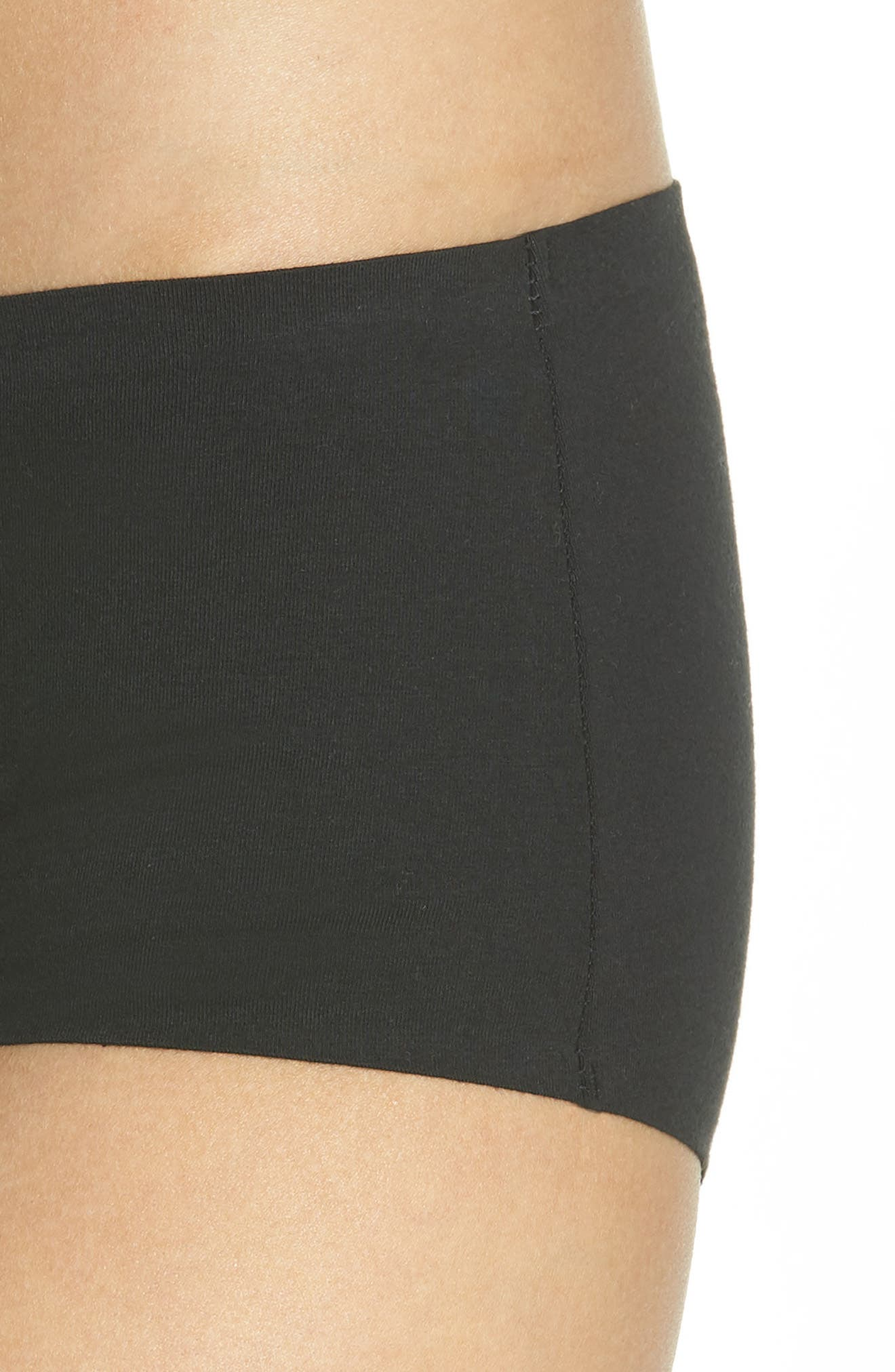 HONEYDEW INTIMATES, Shay Hipster Panties, Alternate thumbnail 4, color, BLACK