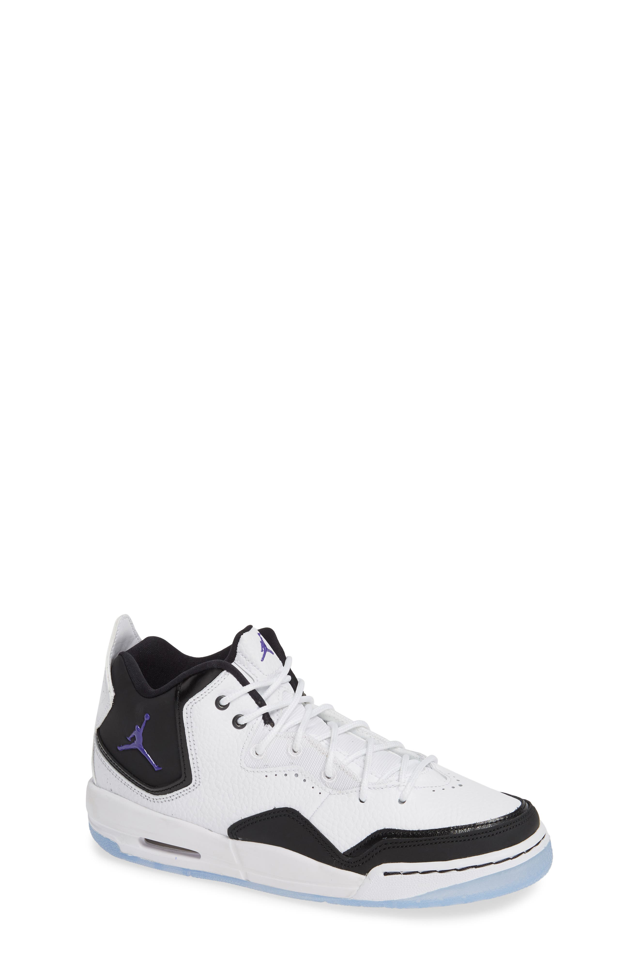 JORDAN, Nike Air Jordan Courtside 23 Sneaker, Main thumbnail 1, color, WHITE/ CONCORD BLACK