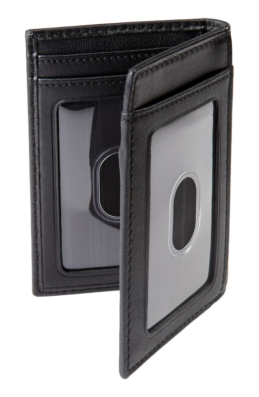 TUMI, Delta - ID Lock<sup>™</sup> Shielded Multi Window Card Case, Alternate thumbnail 6, color, BLACK