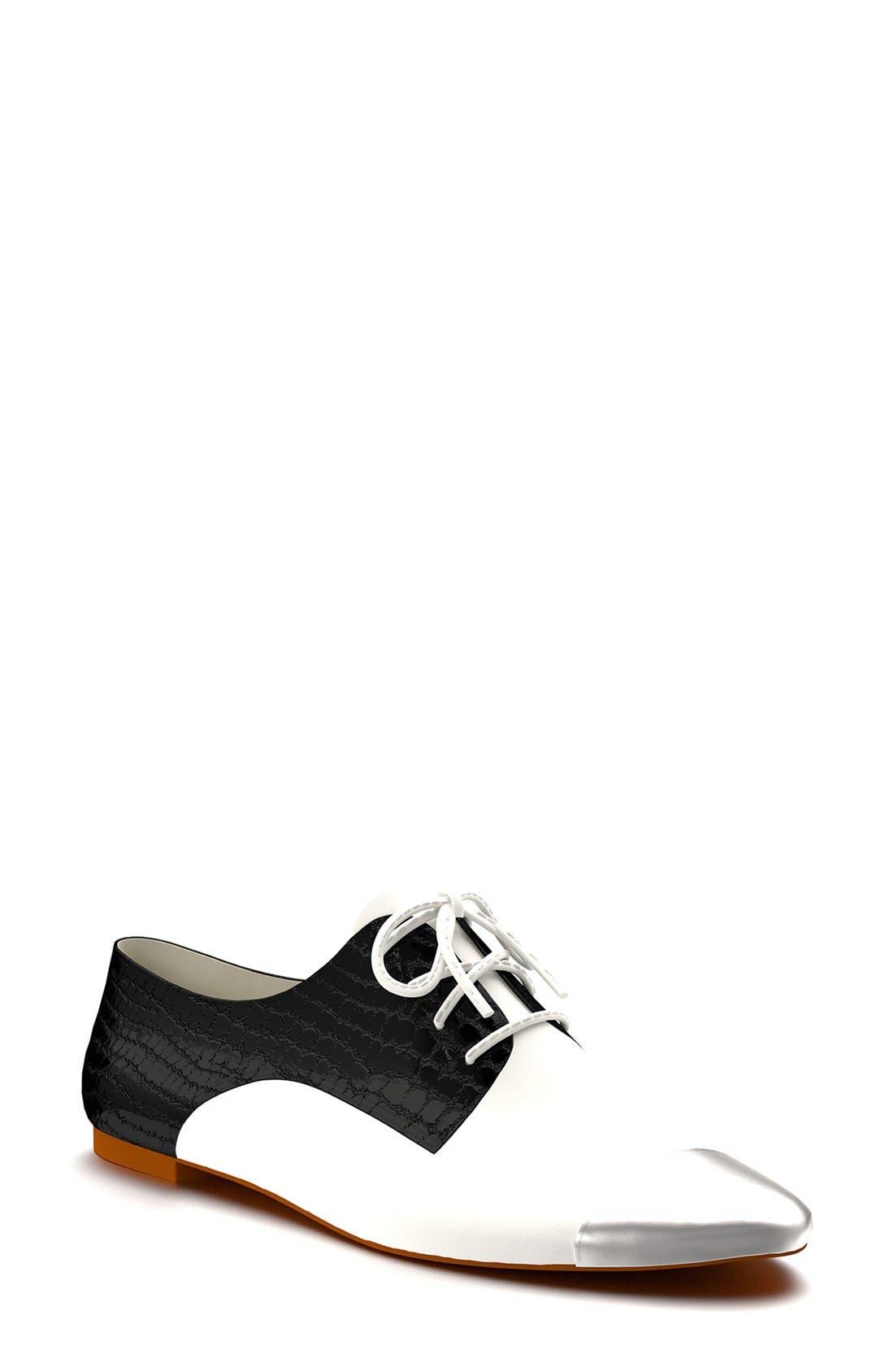 SHOES OF PREY  Cap Toe Oxford, Main, color, 002