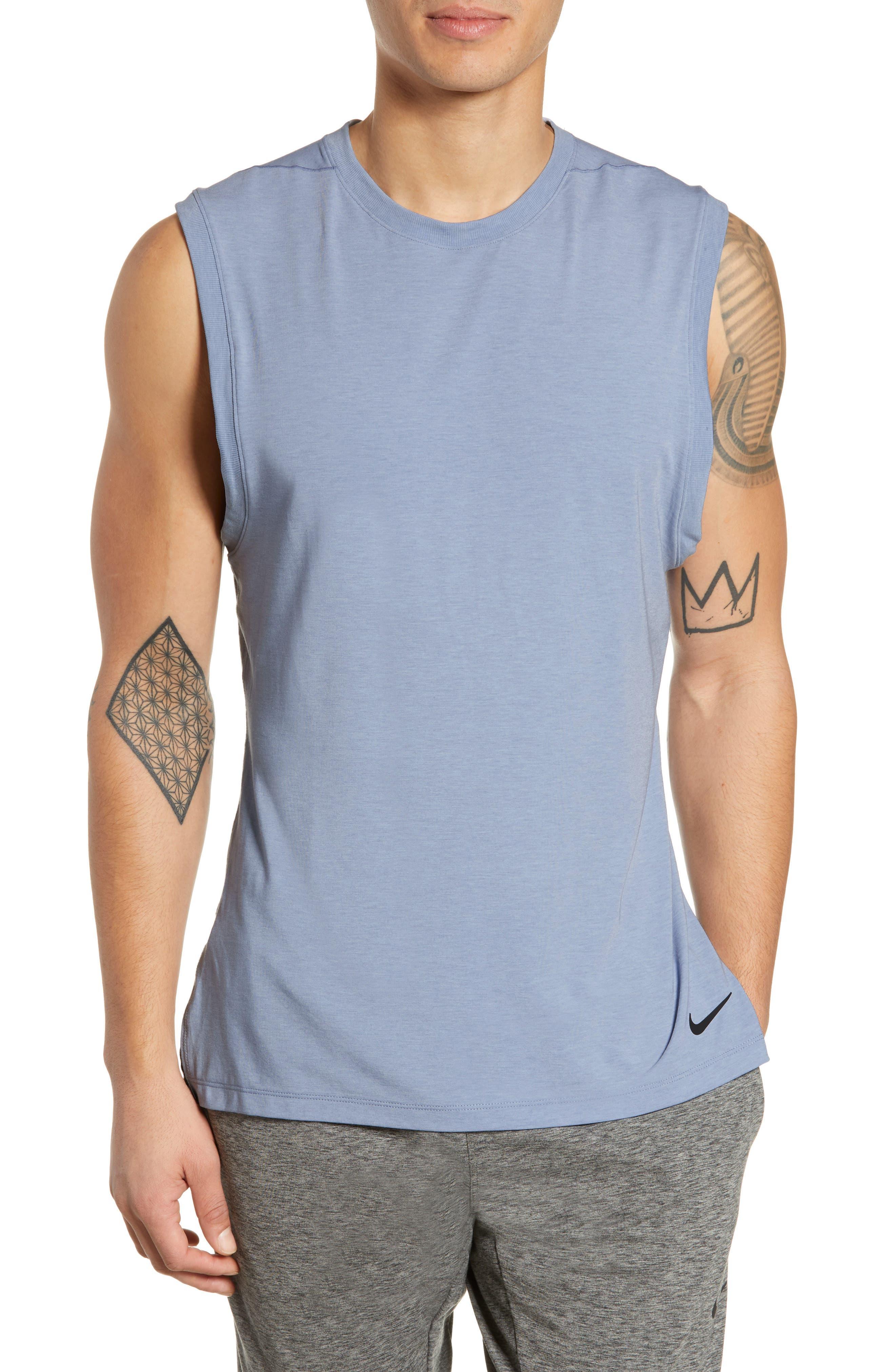 Nike Dry Transcent Sleeveless T-Shirt Blue