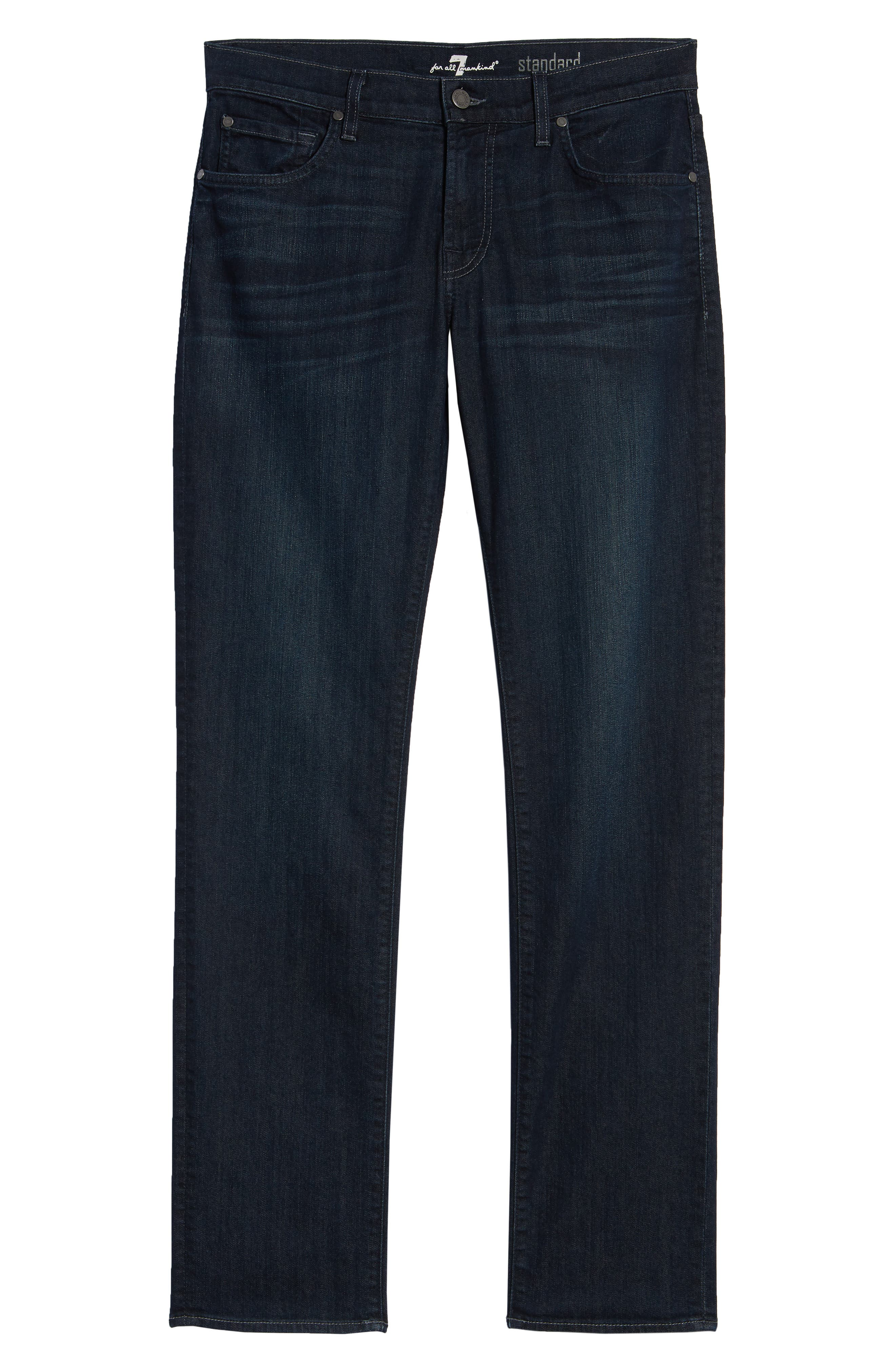7 FOR ALL MANKIND<SUP>®</SUP>, Airweft Standard Straight Leg Jeans, Alternate thumbnail 6, color, 401