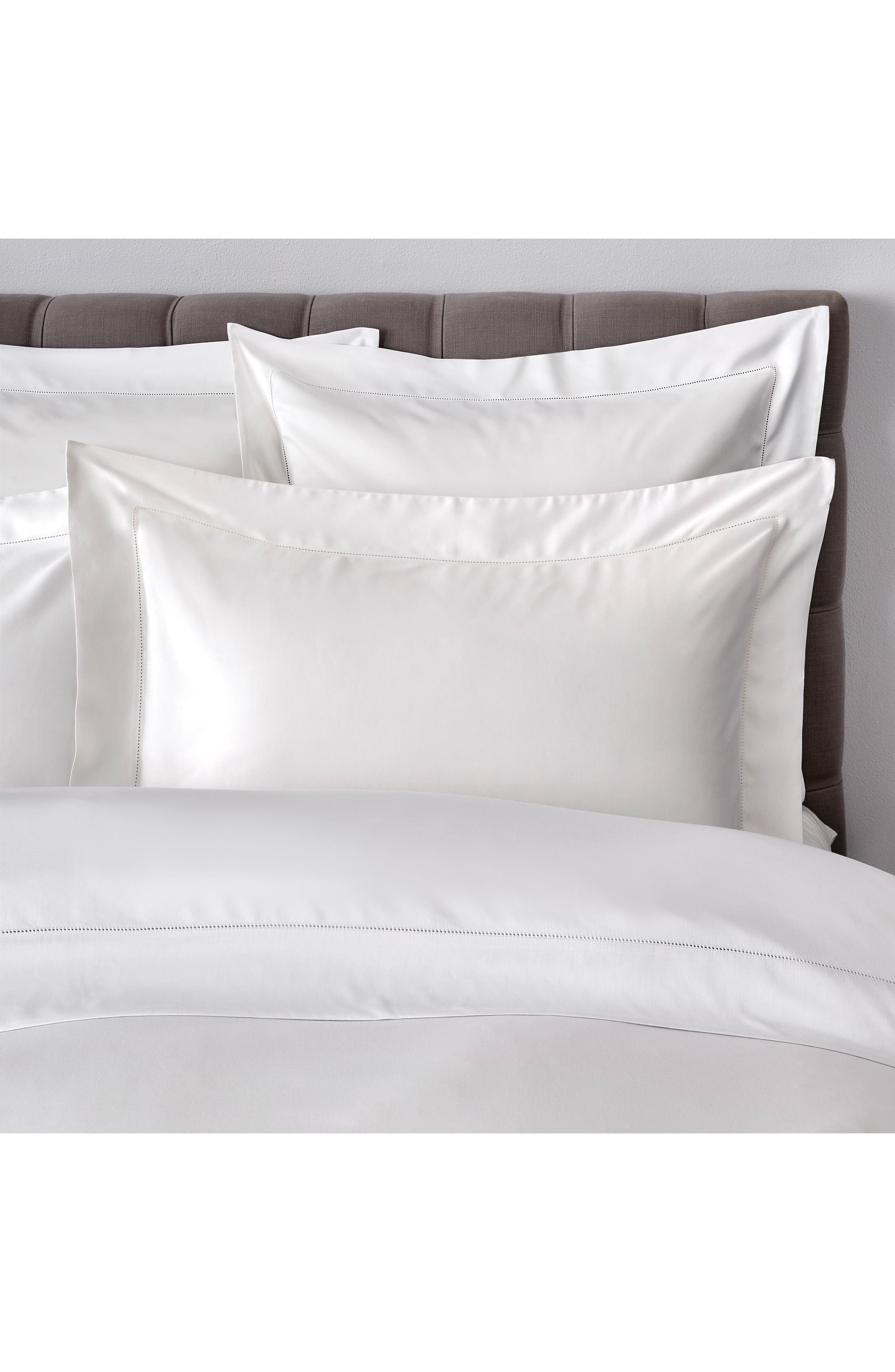 THE WHITE COMPANY, Connaught Flat Sheet, Alternate thumbnail 3, color, CHALK