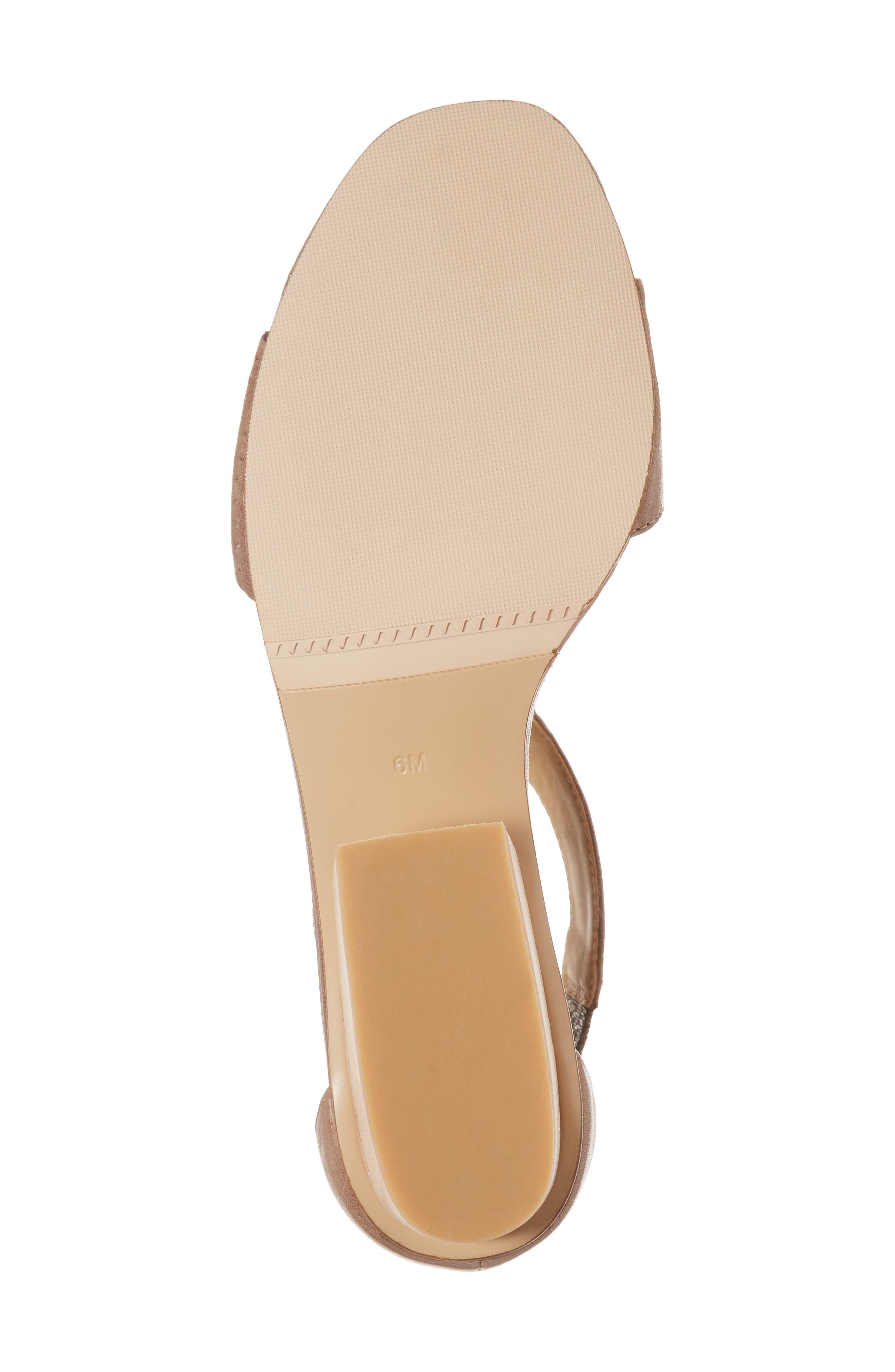 VANELI, Calyx Block Heel Sandal, Alternate thumbnail 6, color, STONE LEATHER