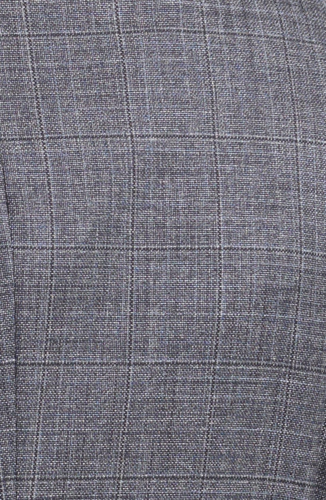 EMPORIO ARMANI, Armani Collezioni Windowpane Wool & Silk Sportcoat, Alternate thumbnail 3, color, 026