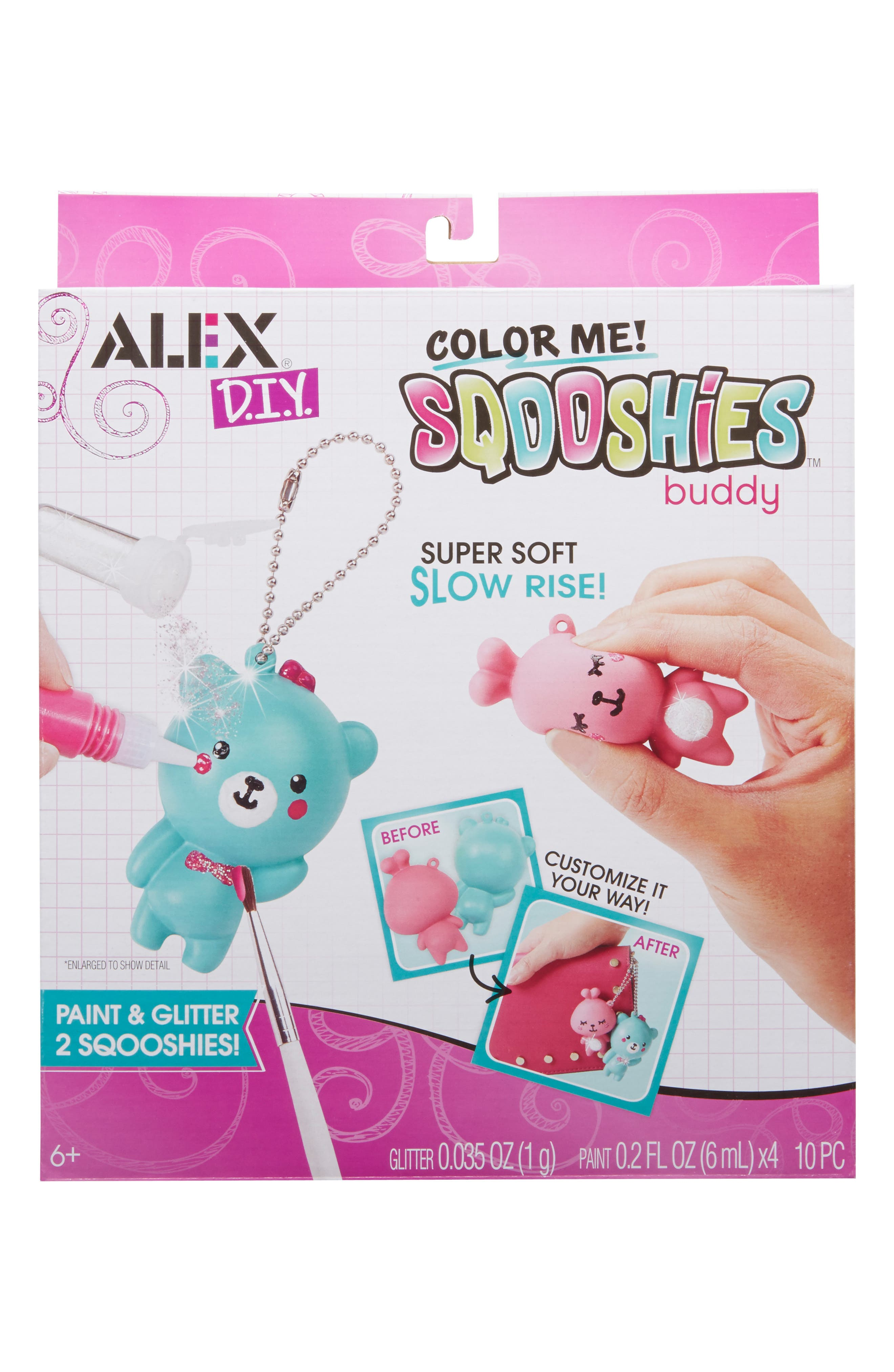 ALEX<SUP>®</SUP> TOYS, DIY Color Me Sqooshies - Buddy, Main thumbnail 1, color, 960