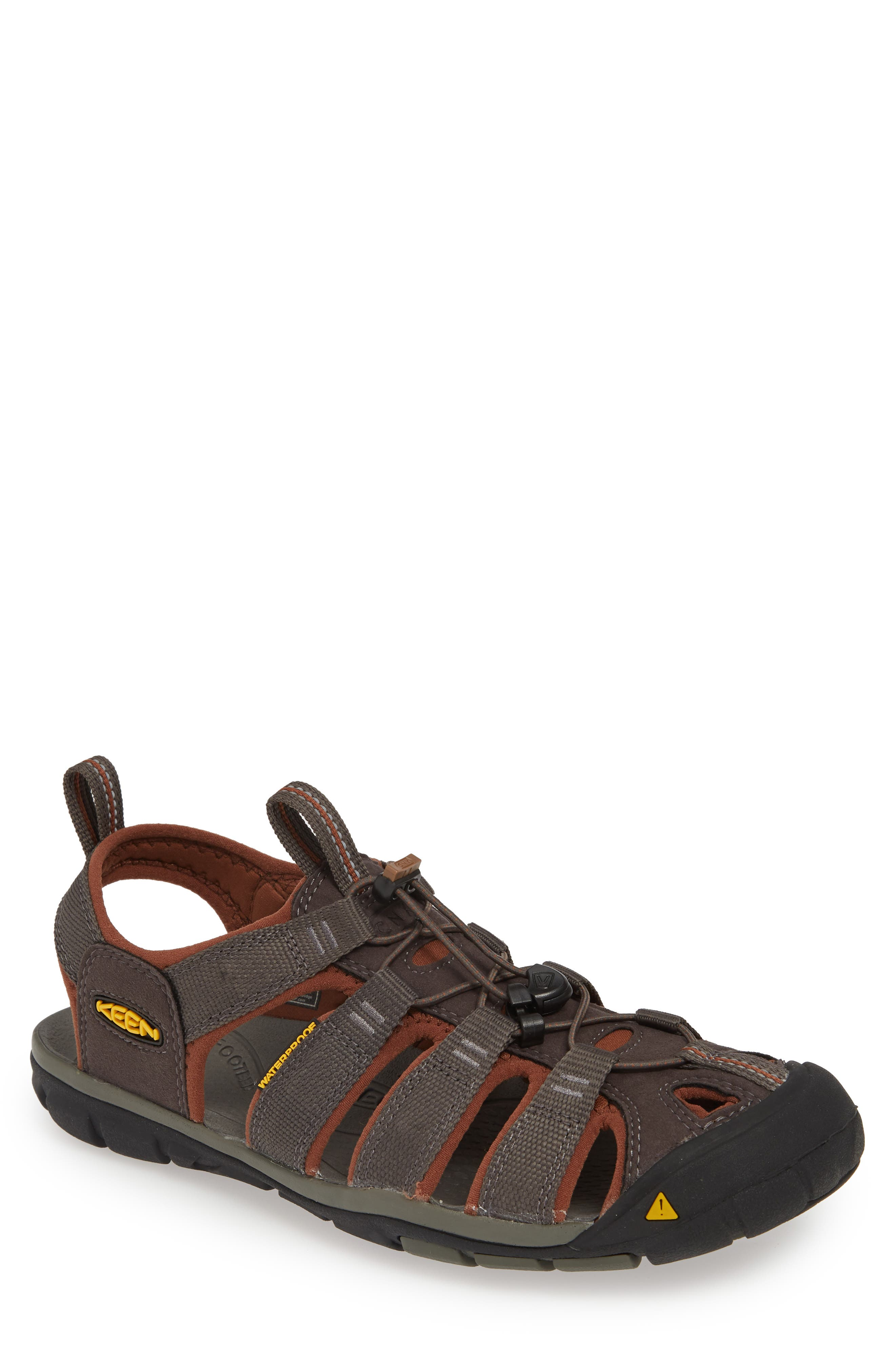 KEEN, 'Clearwater CNX' Sandal, Main thumbnail 1, color, RAVEN/ TORTOISE SHELL