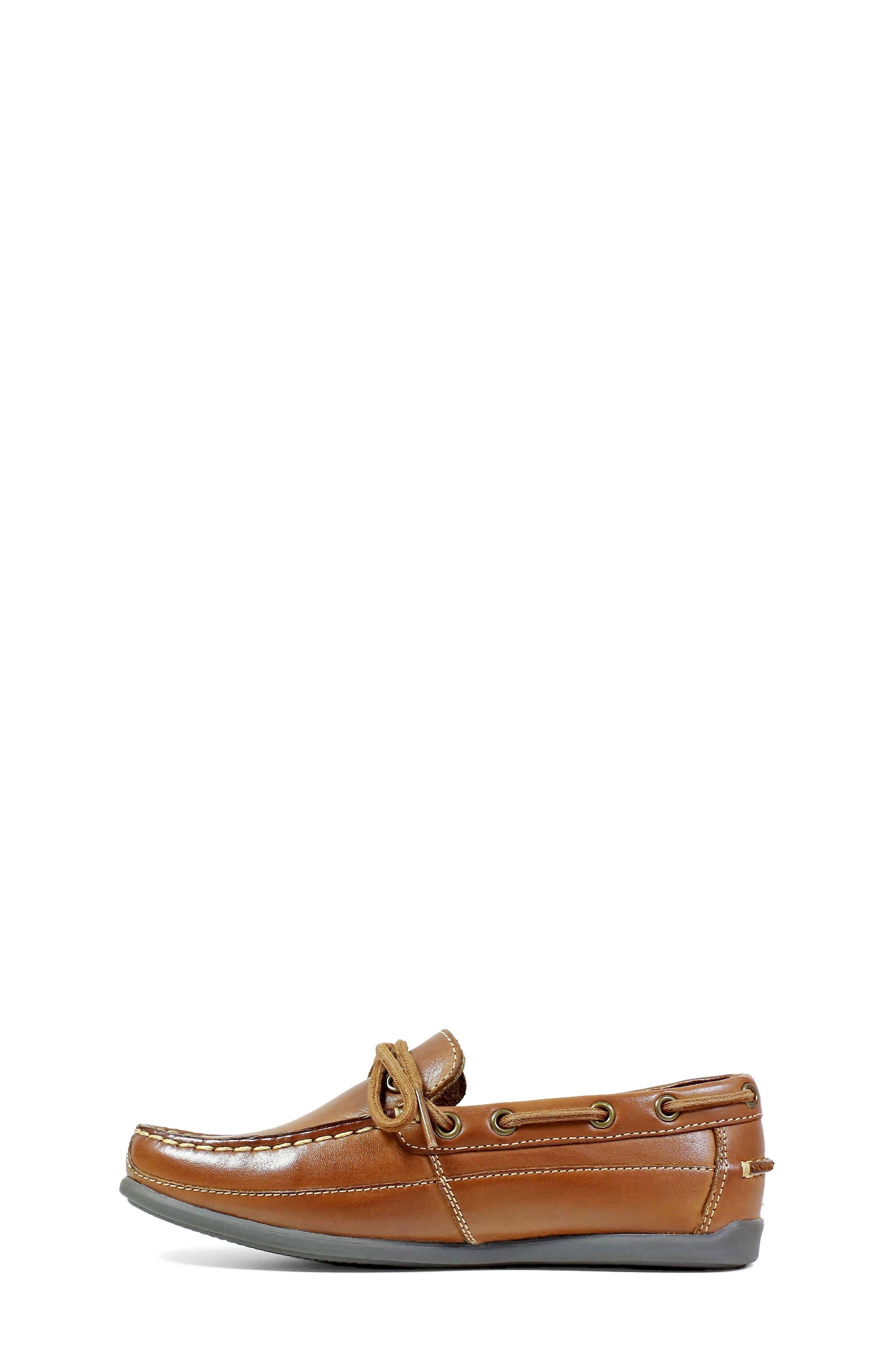FLORSHEIM, Jasper Boat Shoe, Alternate thumbnail 8, color, SADDLE TAN