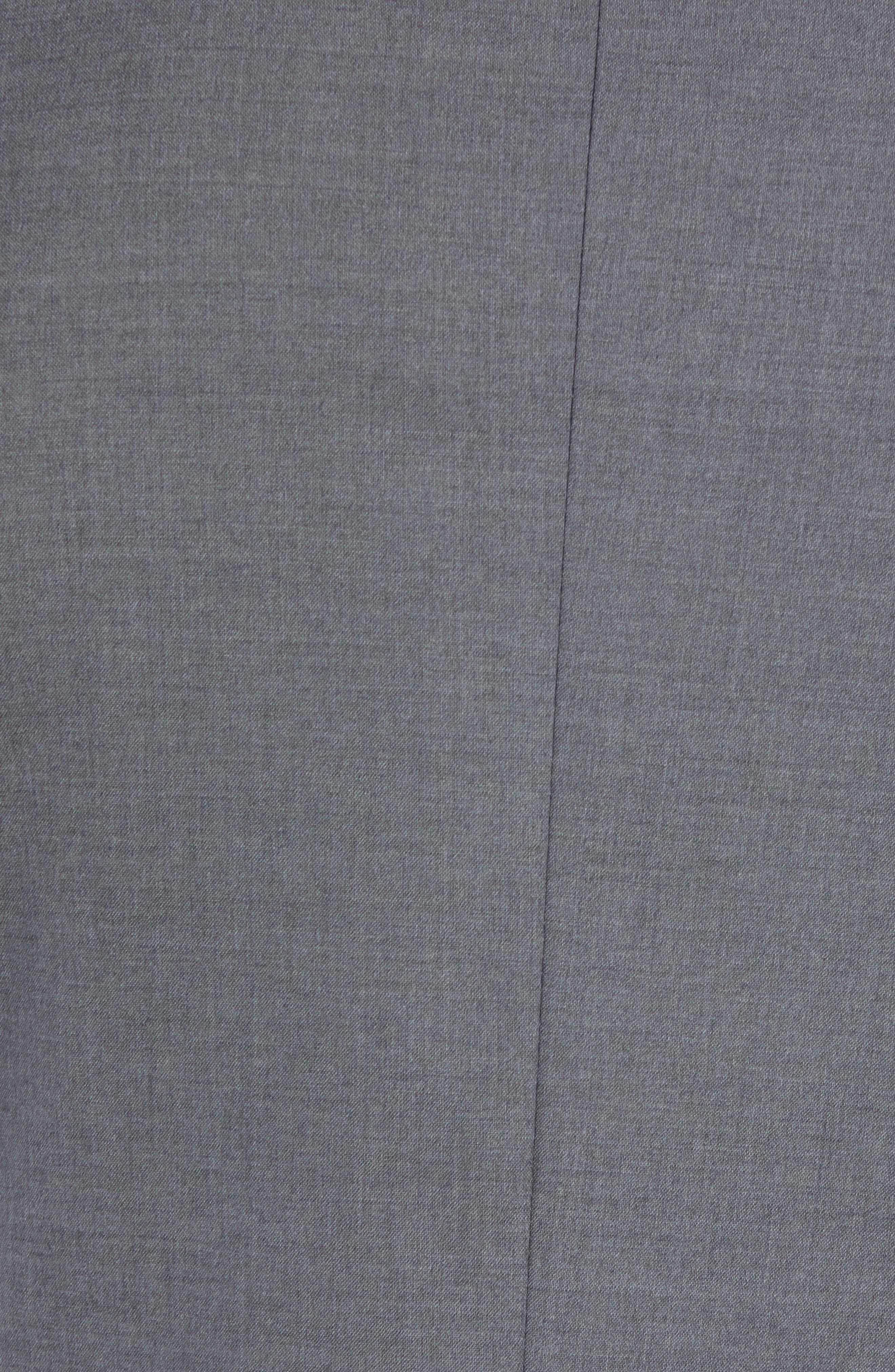 NORDSTROM MEN'S SHOP, Tech-Smart Trim Fit Stretch Wool Travel Sport Coat, Alternate thumbnail 6, color, GREY