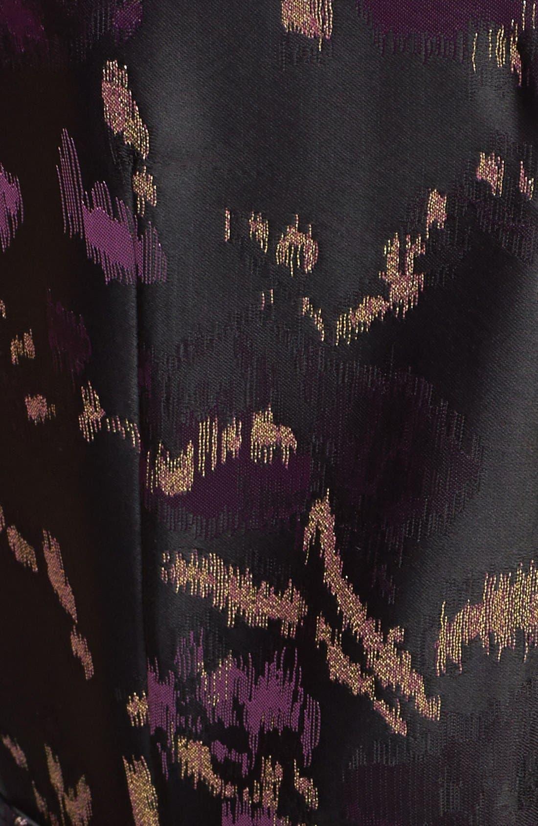 ELIZA J, Brocade Fit & Flare Dress, Alternate thumbnail 2, color, 500