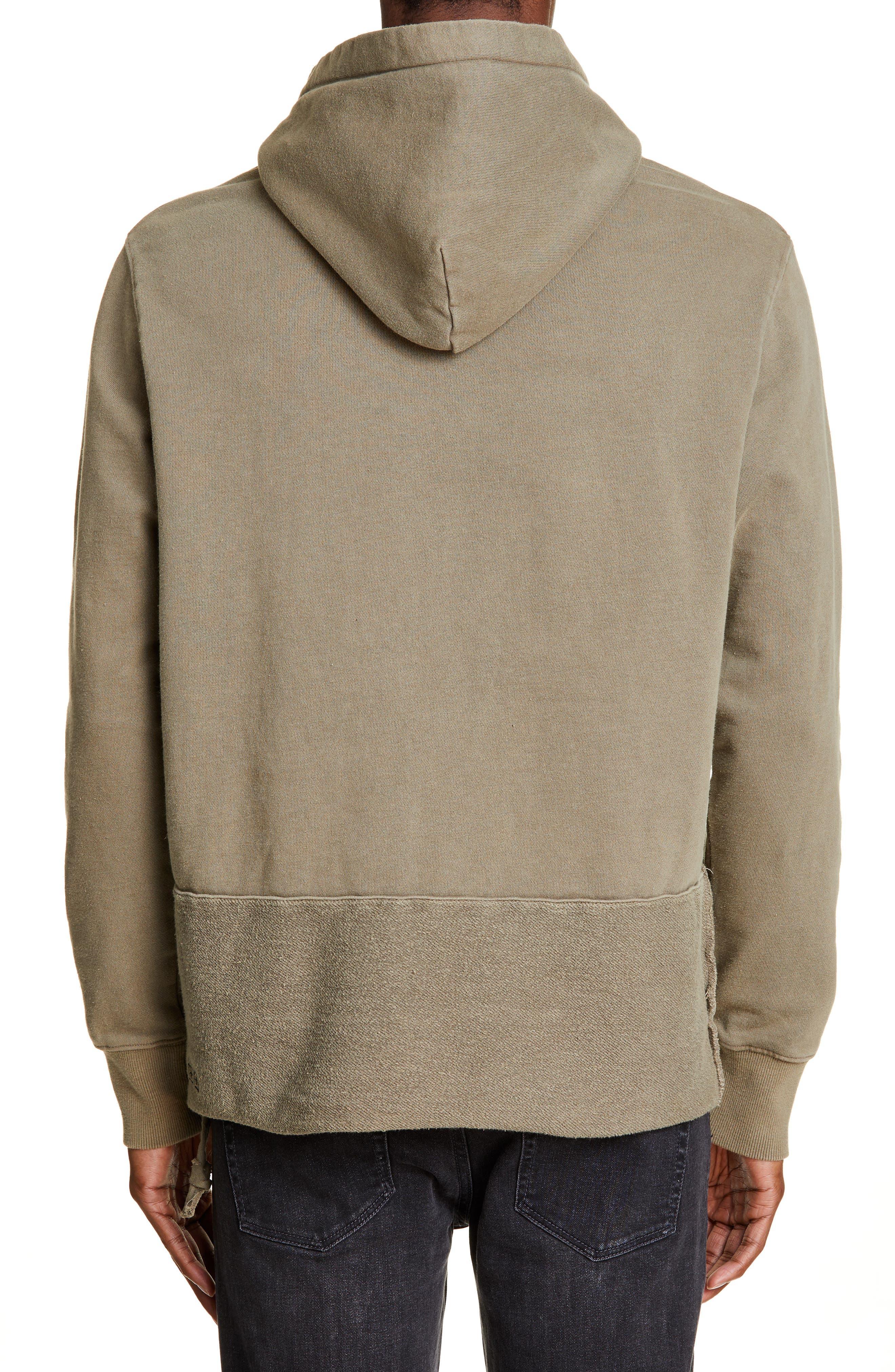 KSUBI, Seeing Lines Hooded Sweatshirt, Alternate thumbnail 2, color, BEIGE