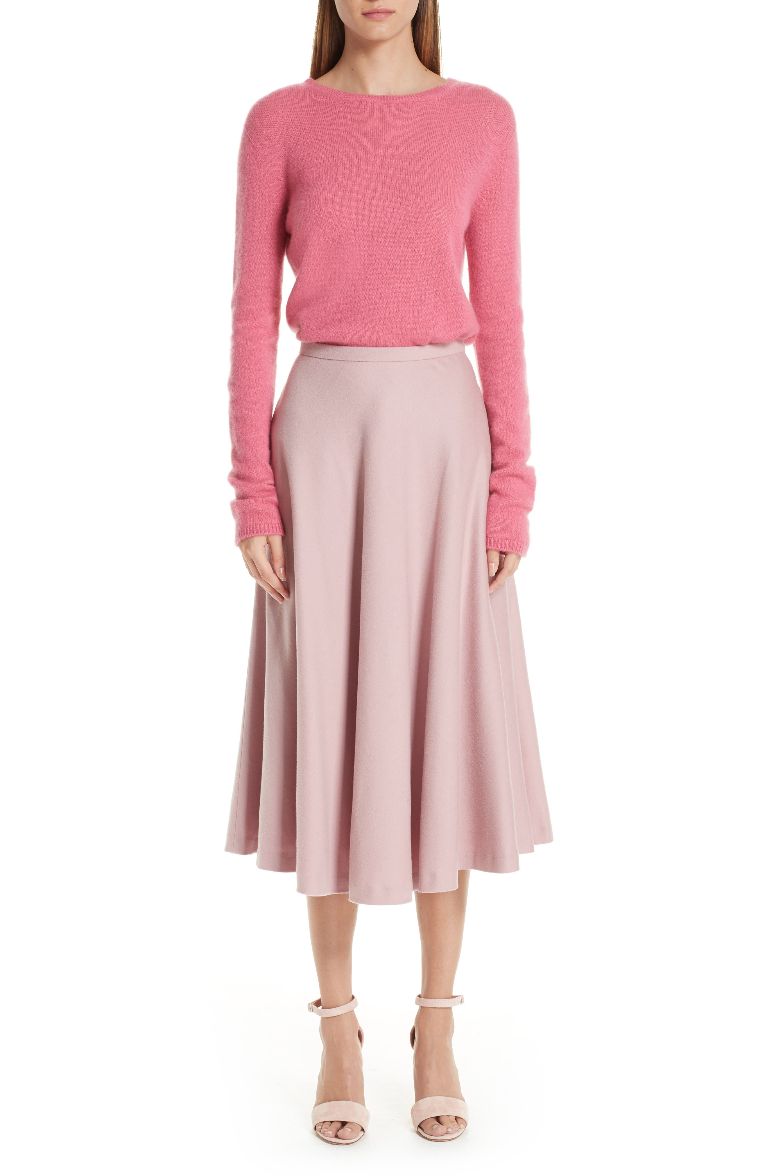MAX MARA, Stelvio Cashmere & Silk Sweater, Alternate thumbnail 7, color, 672