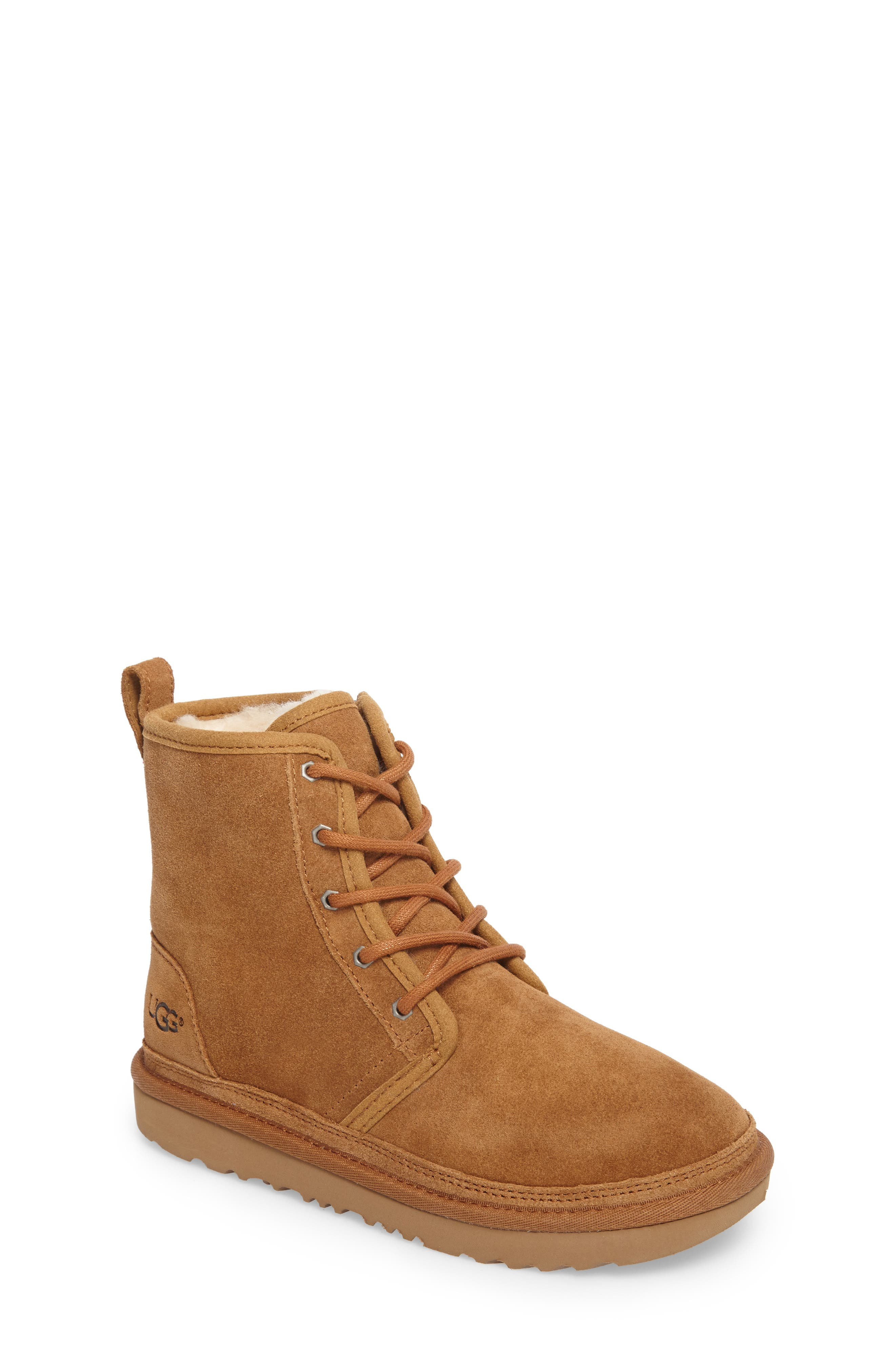 UGG<SUP>®</SUP>, Harkley Lace-Up Boot, Main thumbnail 1, color, CHESTNUT