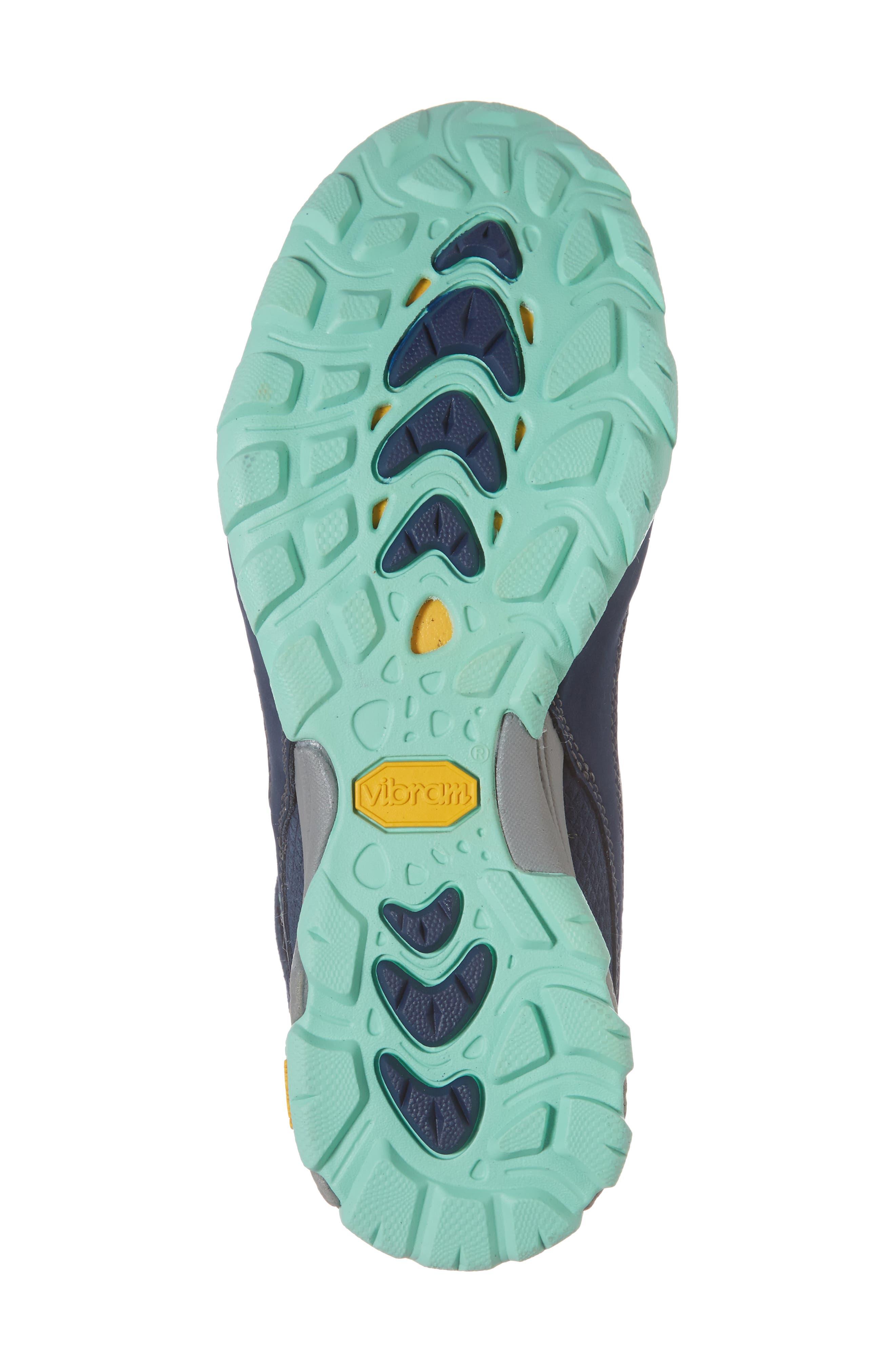 TEVA, Ahnu by Teva Sugarpine II Waterproof Hiking Boot, Alternate thumbnail 6, color, INSIGNIA BLUE