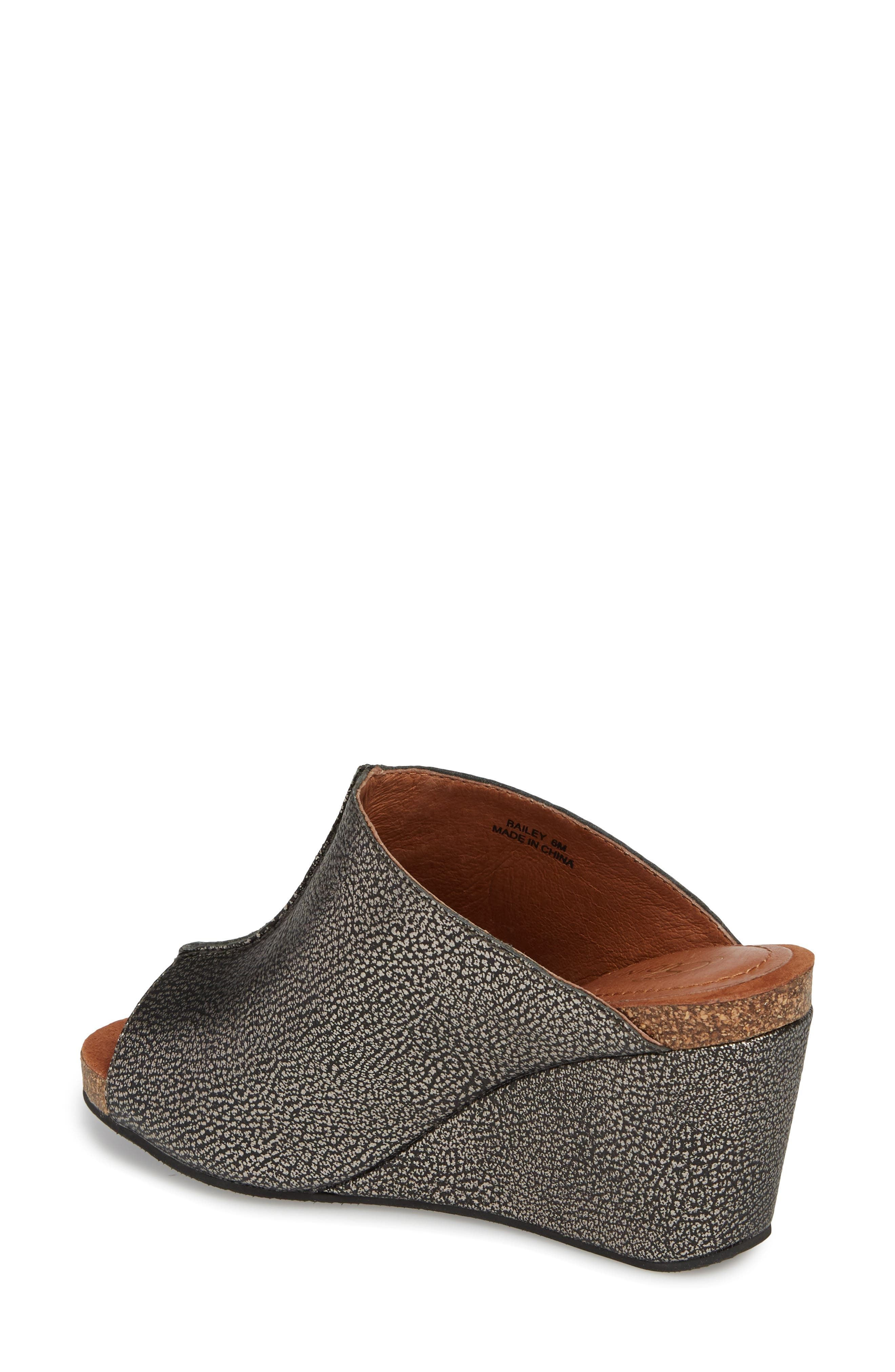 SUDINI, 'Bailey' Suede Wedge, Alternate thumbnail 2, color, PEWTER LEATHER