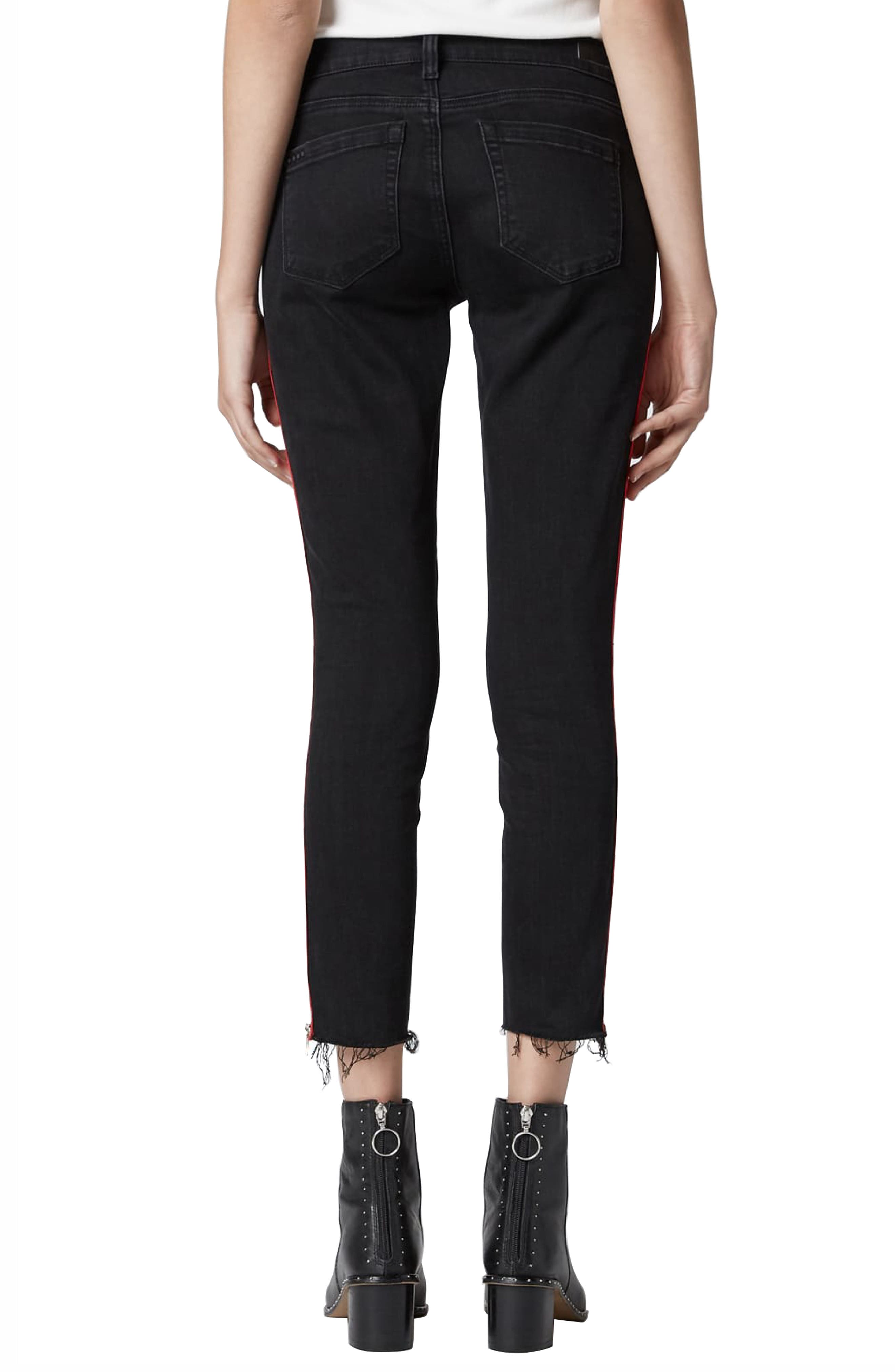 BLANKNYC, The Bond Side Zip Ripped Skinny Jeans, Alternate thumbnail 2, color, 001