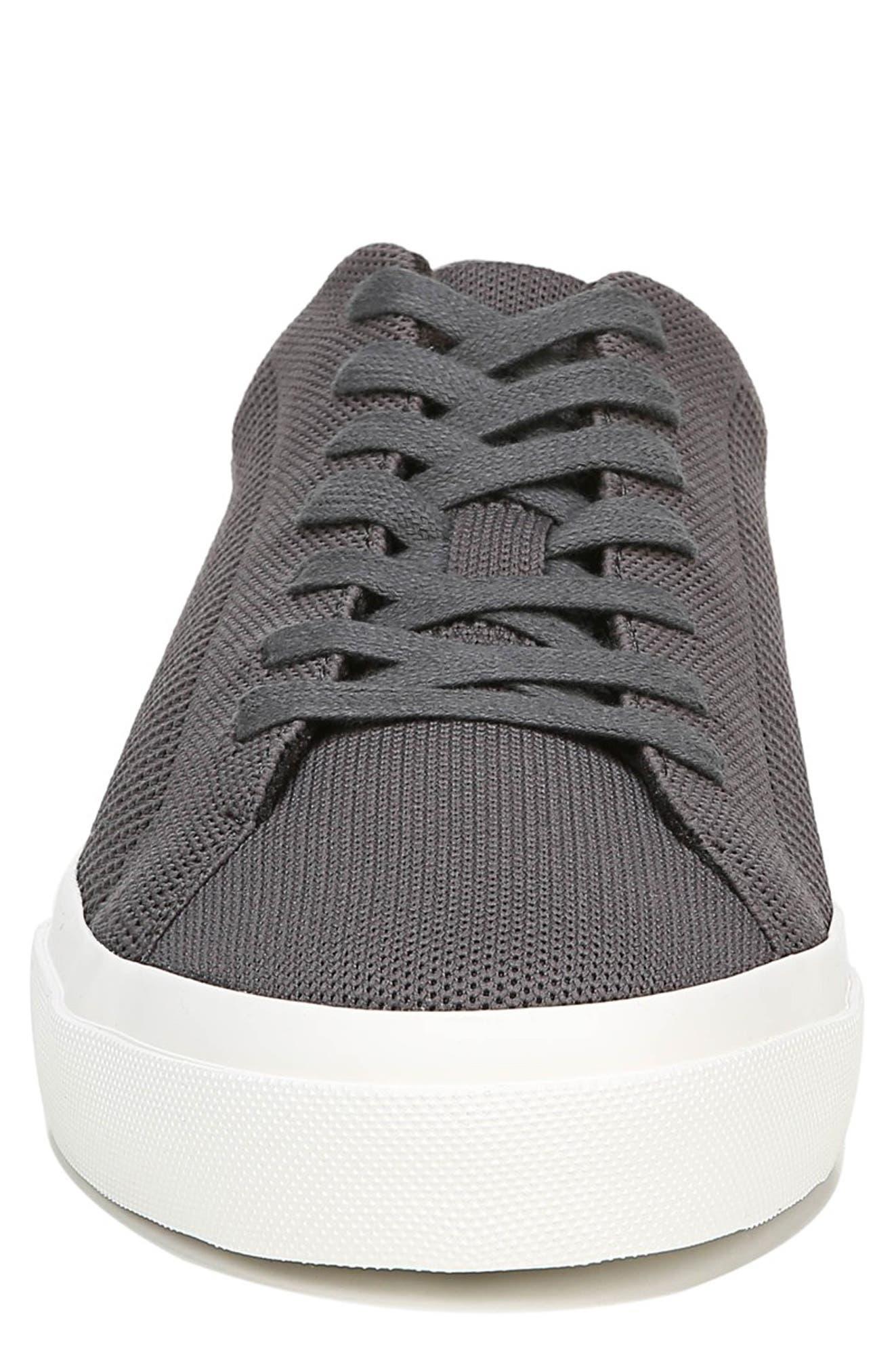 VINCE, Farrell Sneaker, Alternate thumbnail 4, color, GRAPHITE/ BLACK