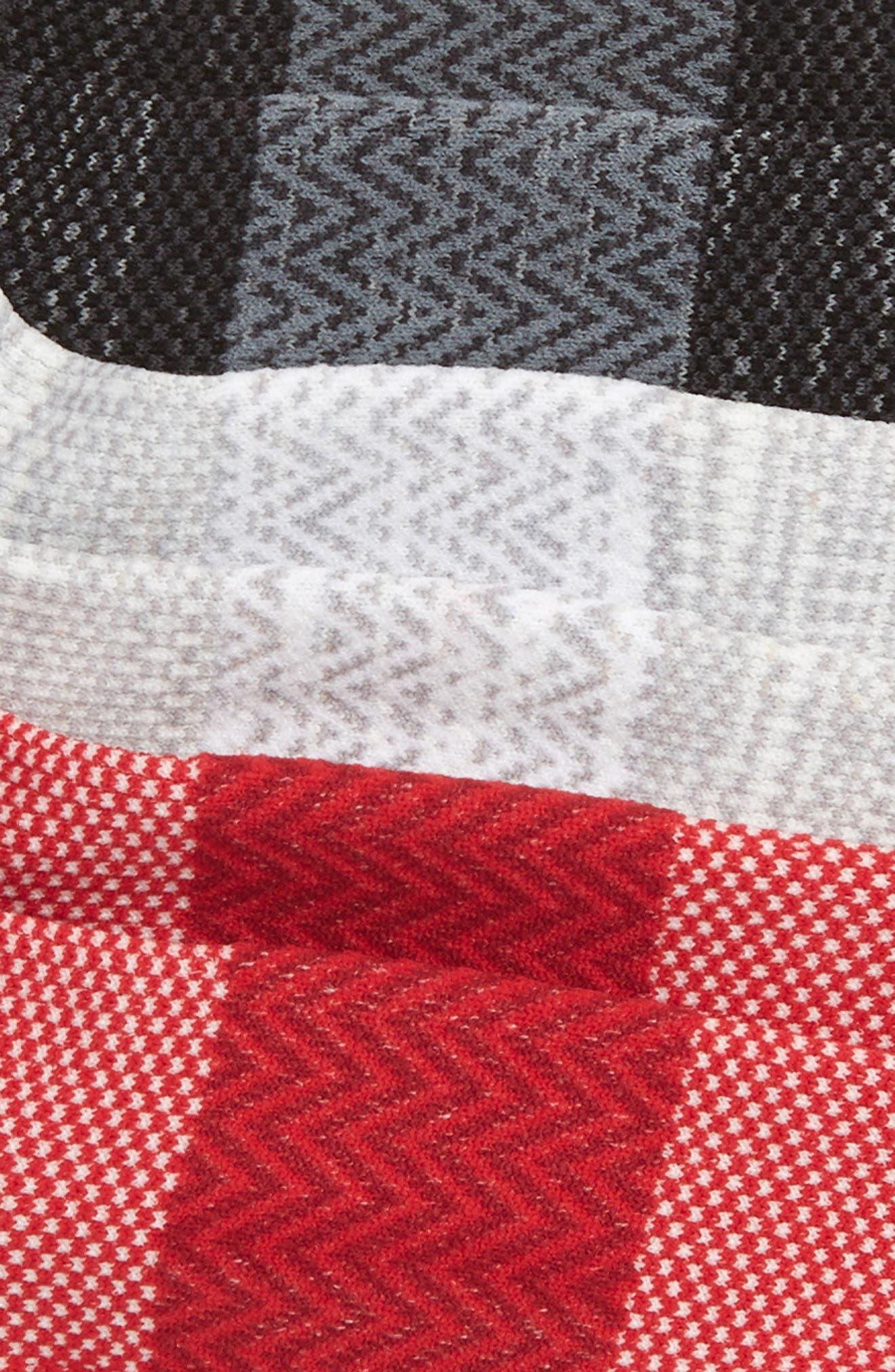 ZELLA, 3-Pack Ultra Light Running Socks, Alternate thumbnail 2, color, GREY/ RED/ BLACK
