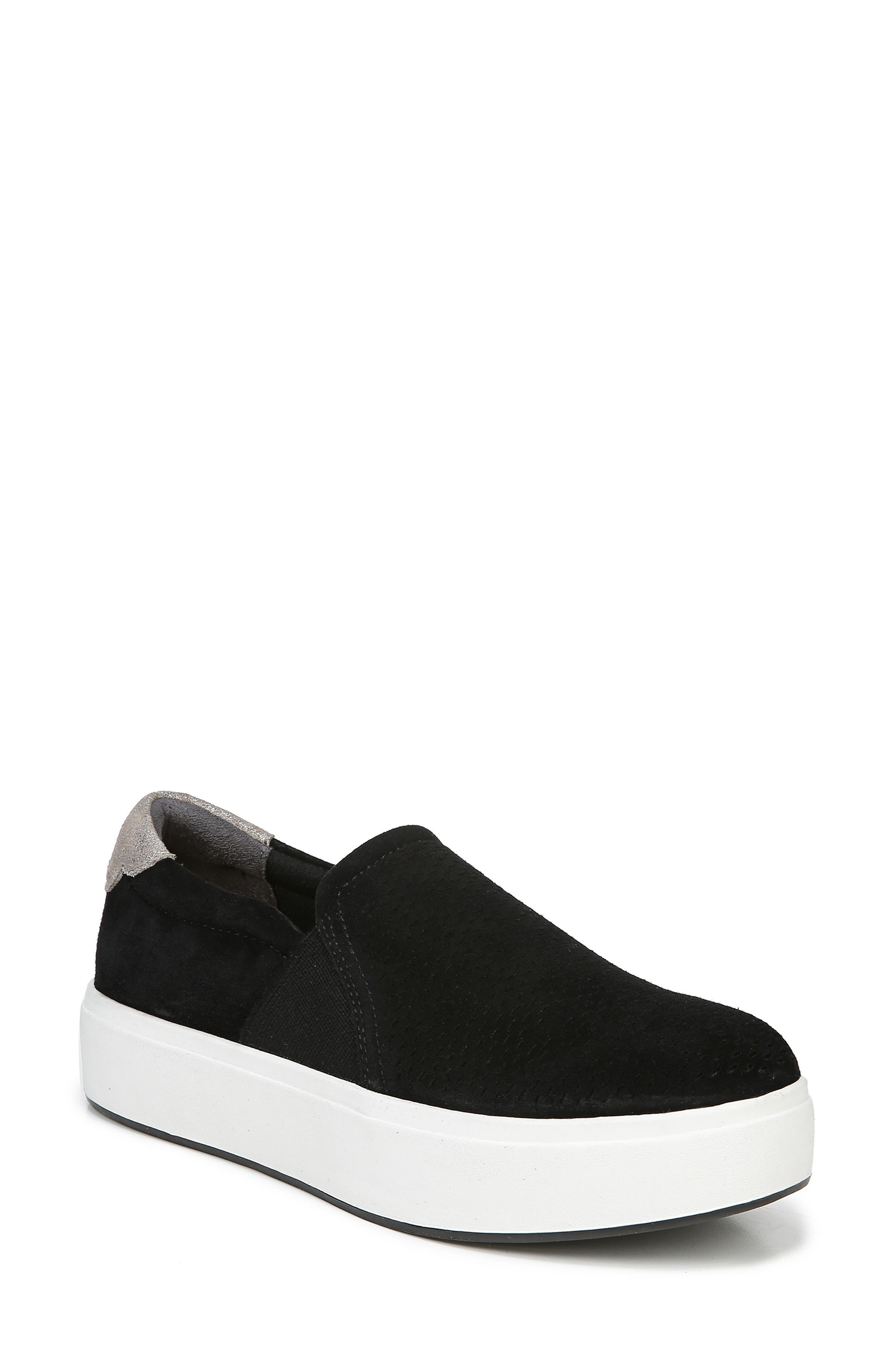 DR. SCHOLL'S Abbot Lux Sneaker, Main, color, BLACK SUEDE