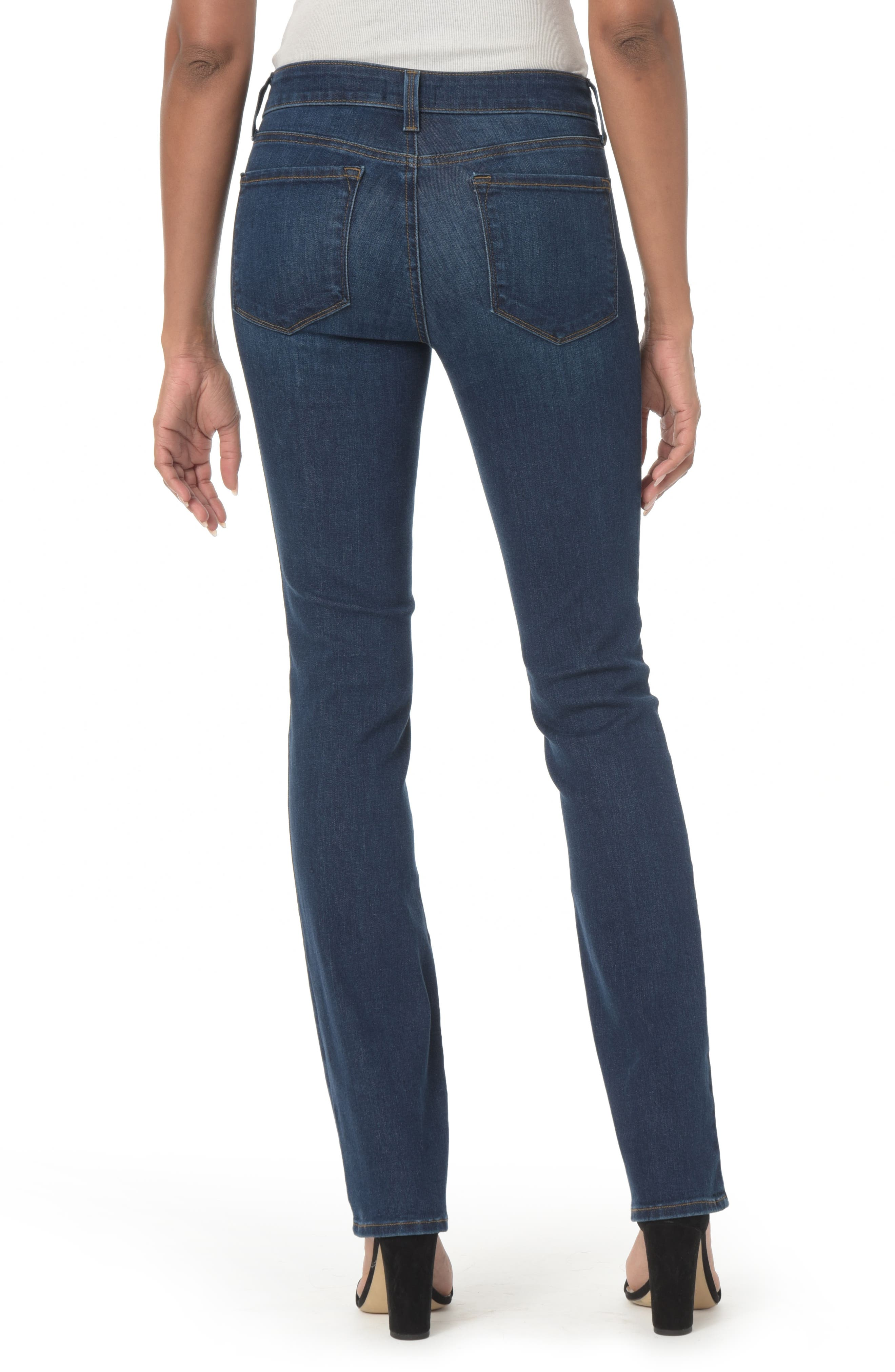 NYDJ, Marilyn High Waist Stretch Straight Leg Jeans, Alternate thumbnail 2, color, COOPER