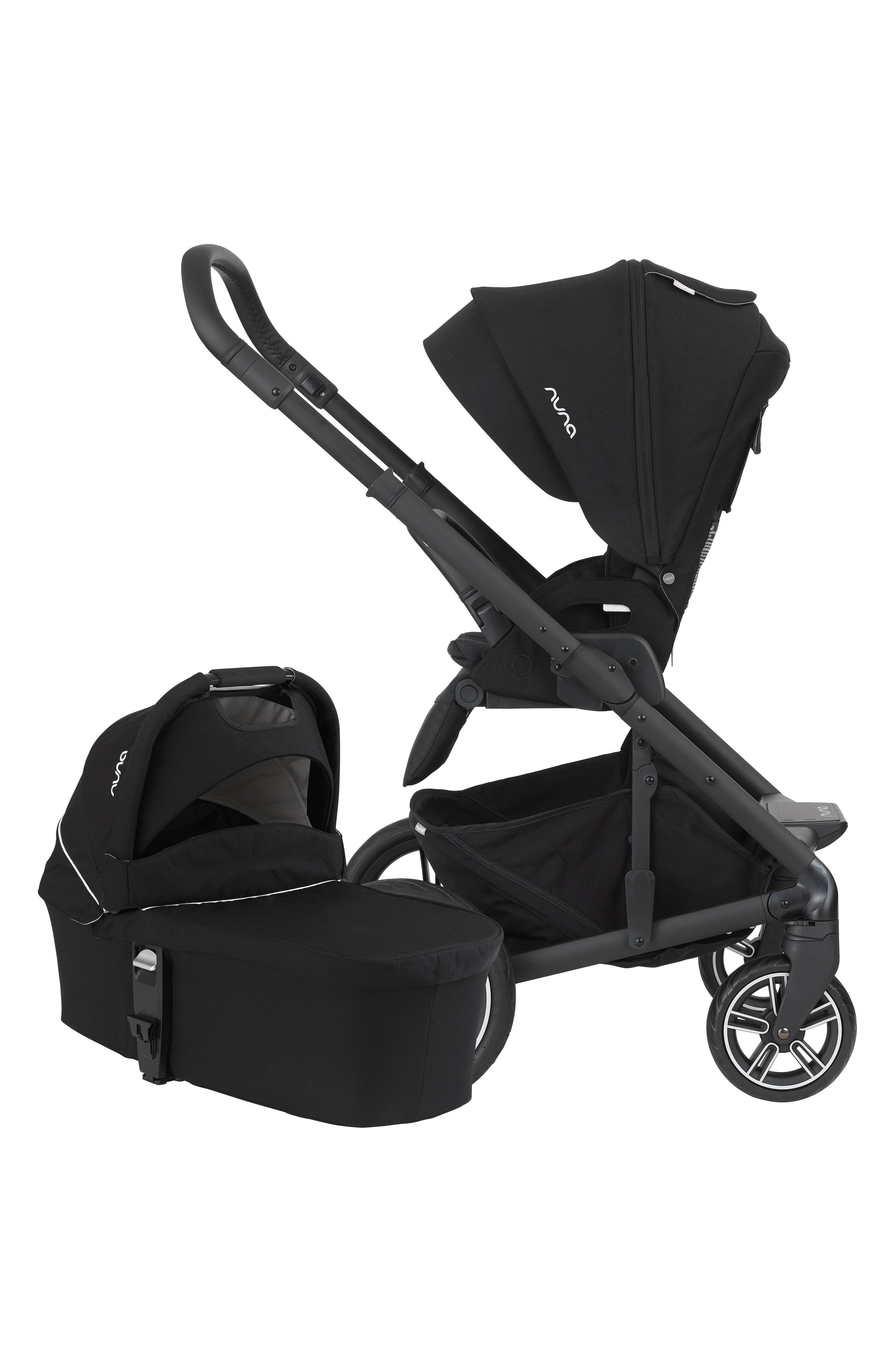 NUNA, MIXX 2 Stroller & Bassinet Set, Alternate thumbnail 3, color, CAVIAR