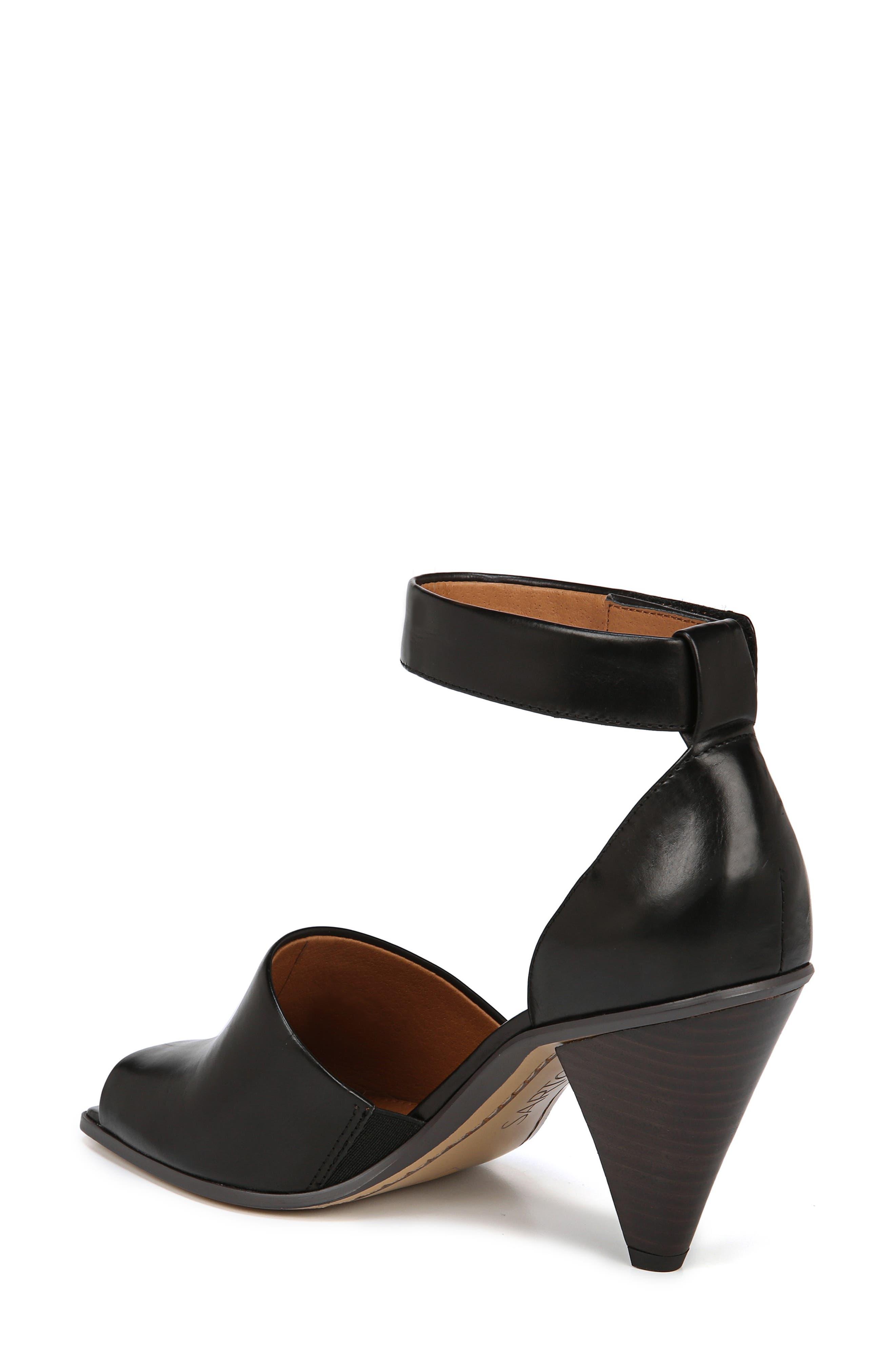 SARTO BY FRANCO SARTO, Ankle Strap Sandal, Alternate thumbnail 2, color, BLACK FOULARD LEATHER
