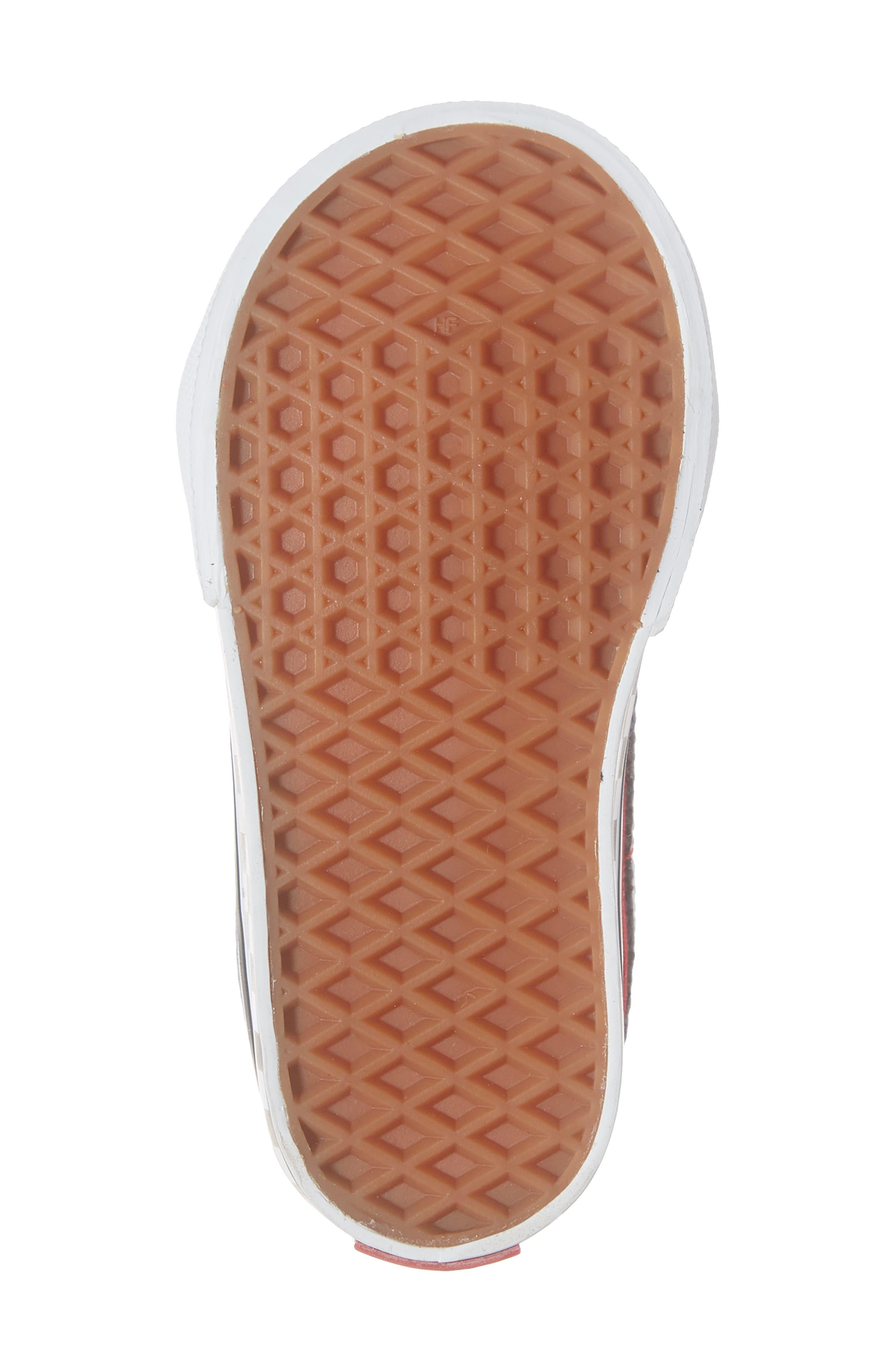 VANS, 'Sk8-Mid Reissue' Sneaker, Alternate thumbnail 6, color, BLACK/ RED / WHITE