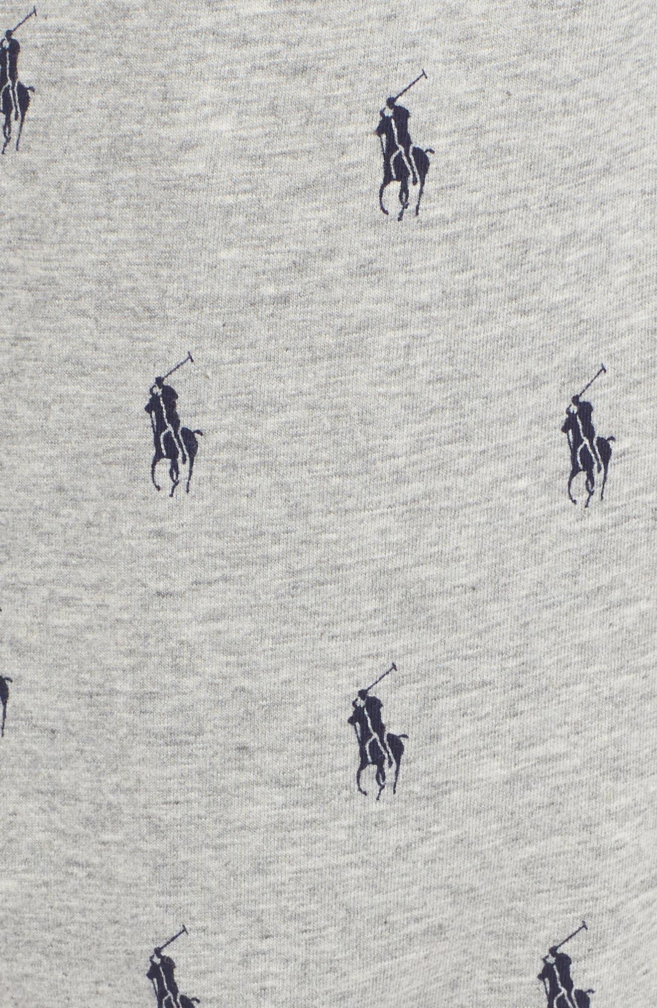 POLO RALPH LAUREN, Pony Print Pajama Pants, Alternate thumbnail 5, color, ANDOVER GREY